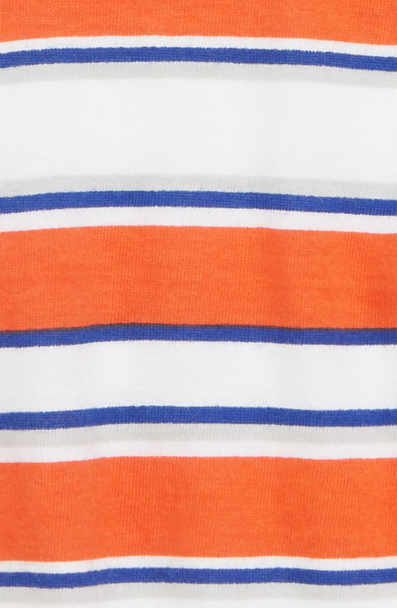 Stripe Romper,                             Alternate thumbnail 2, color,                             Orange Lily Sunset Stripe