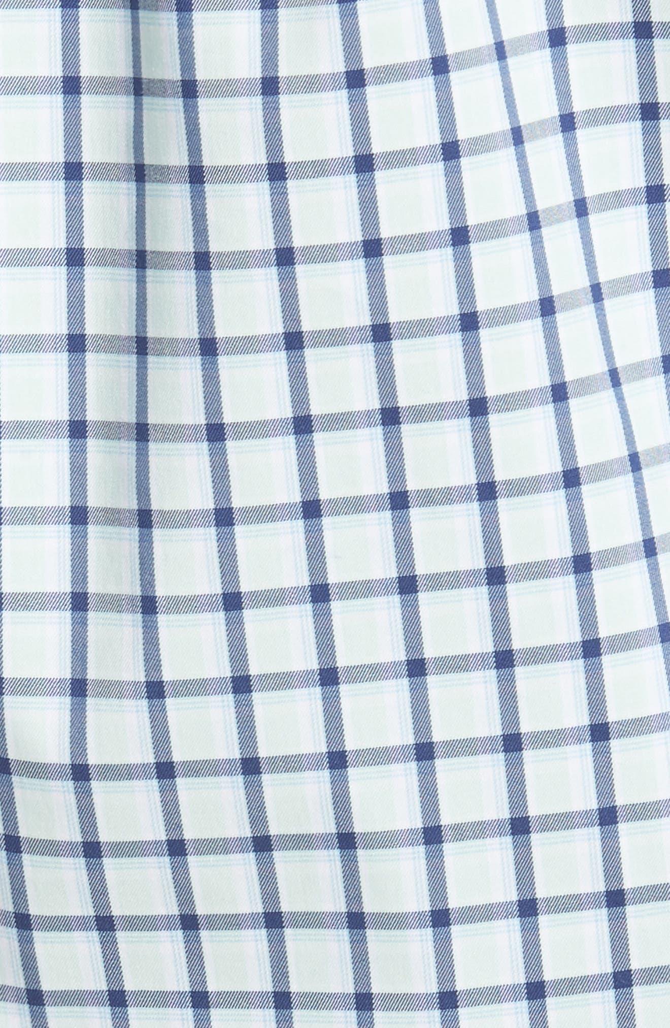 Crown Comfort Check Sport Shirt,                             Alternate thumbnail 5, color,                             Cays