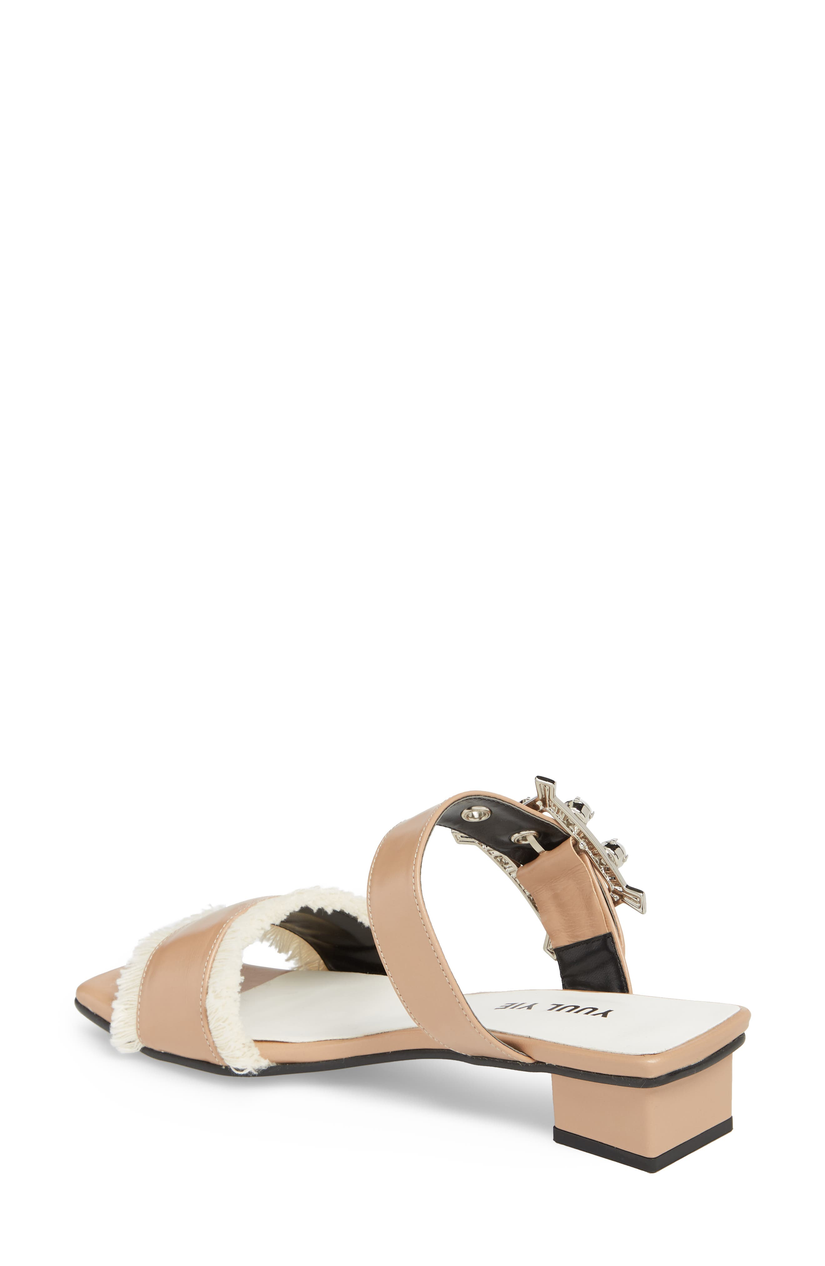 Embellished Slide Sandal,                             Alternate thumbnail 2, color,                             Skin Beige