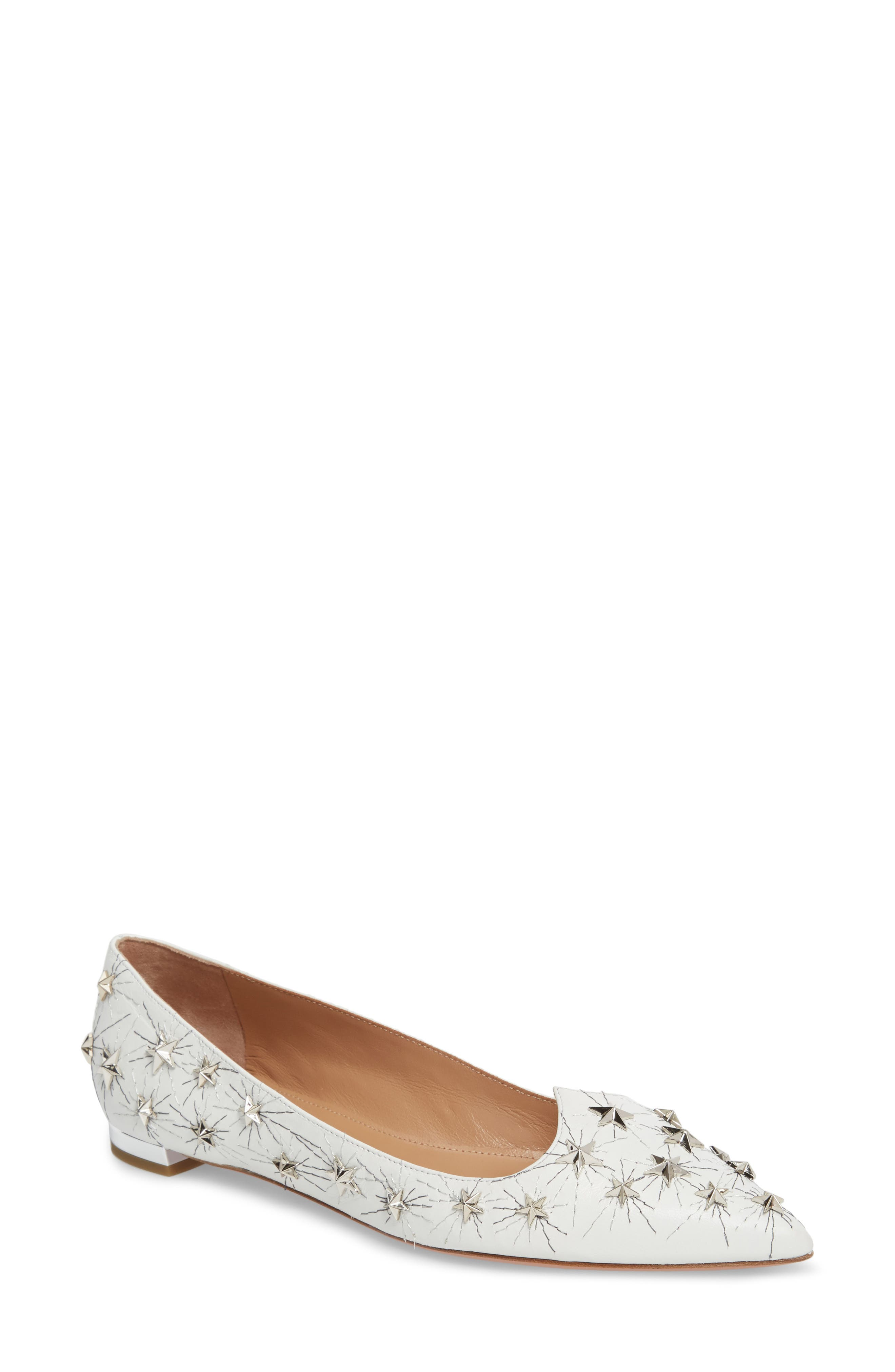 Aquazzura Cosmic Star Pointy Toe Flat (Women)