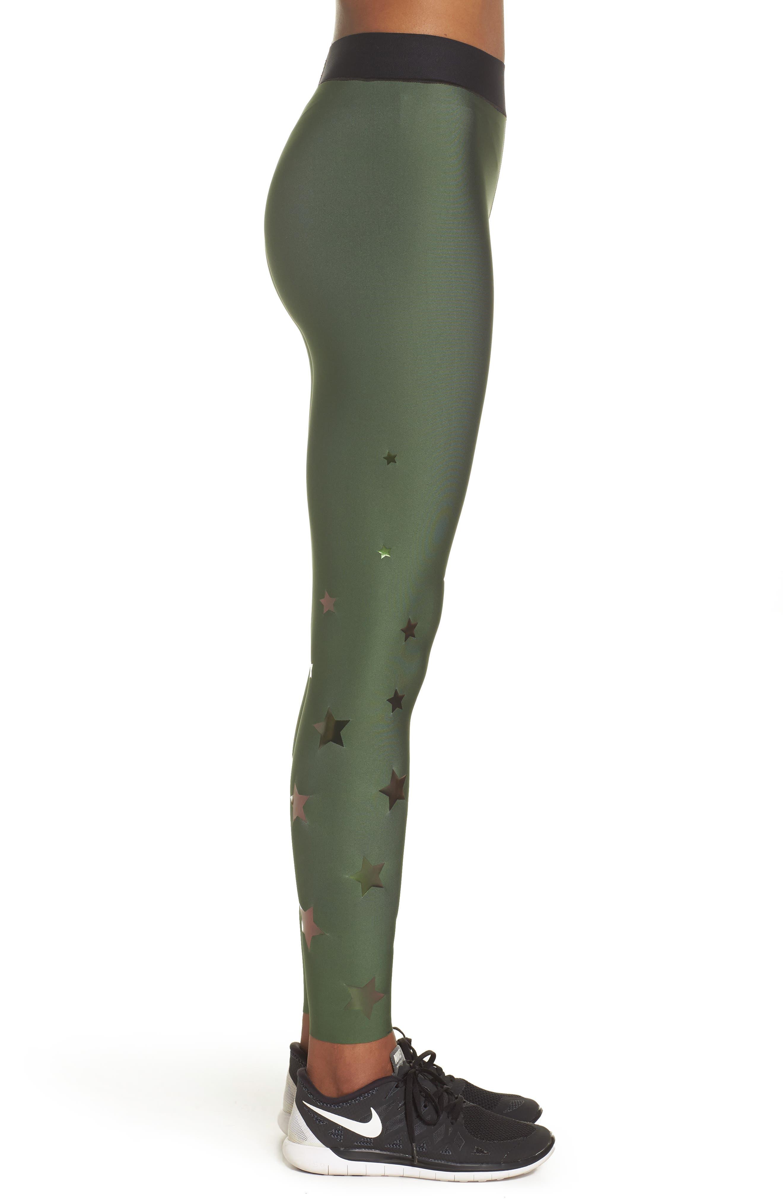 Ultra Luster Leggings,                             Alternate thumbnail 3, color,                             Army Green Beetle