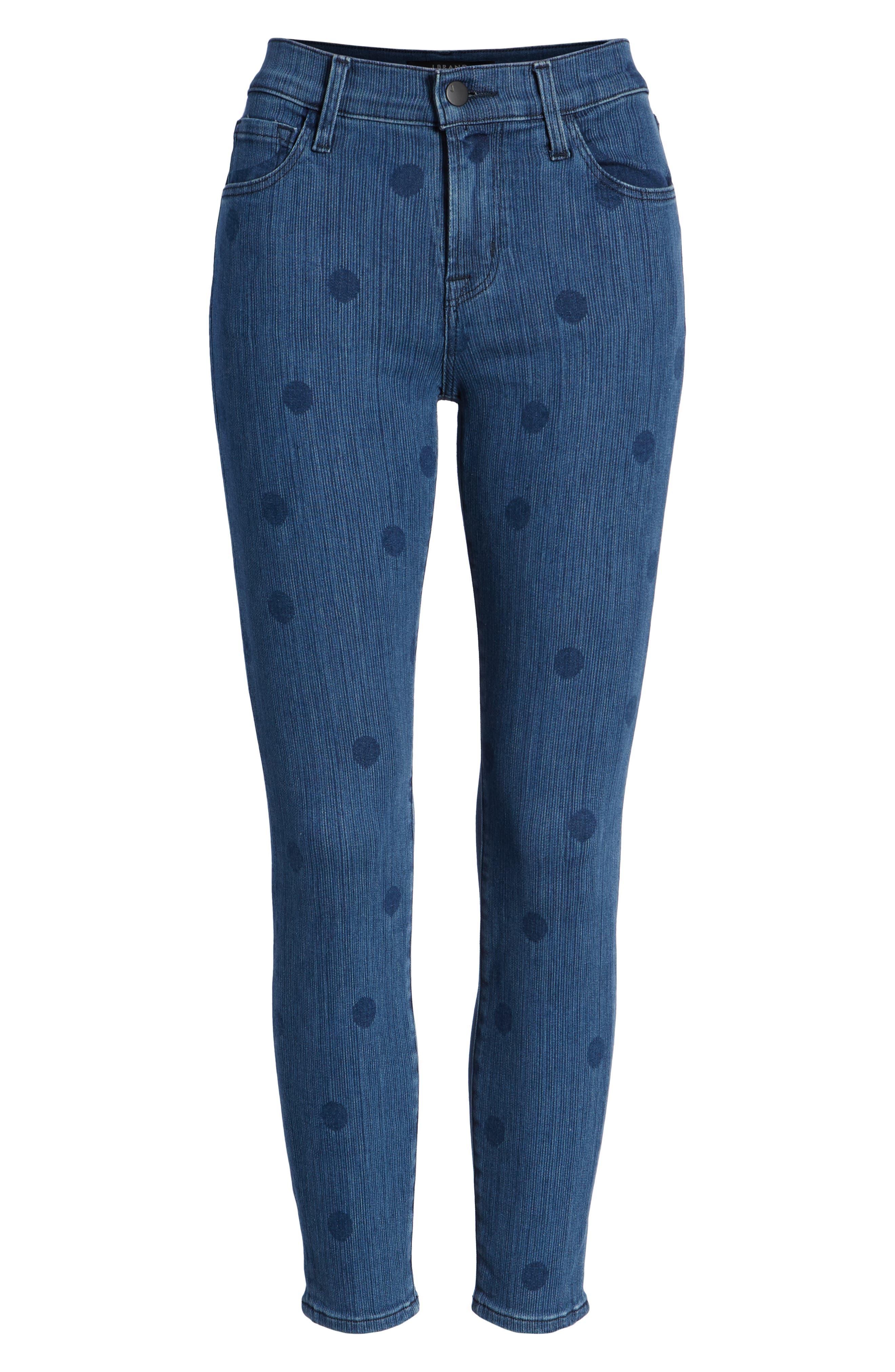 835 Capri Skinny Jeans,                             Alternate thumbnail 7, color,                             Aerial
