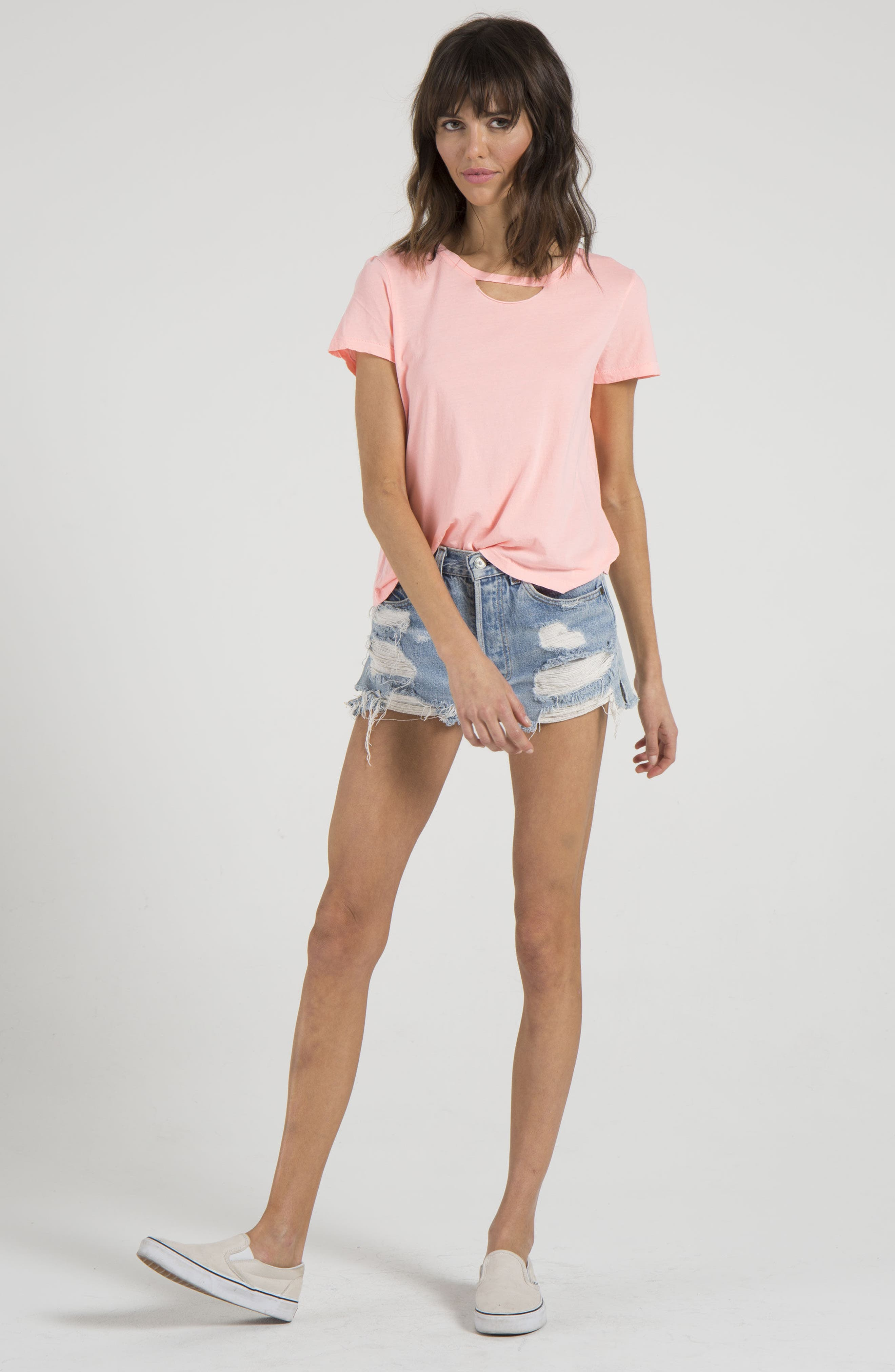 Abigail Deconstructed Tee,                             Alternate thumbnail 7, color,                             Coral