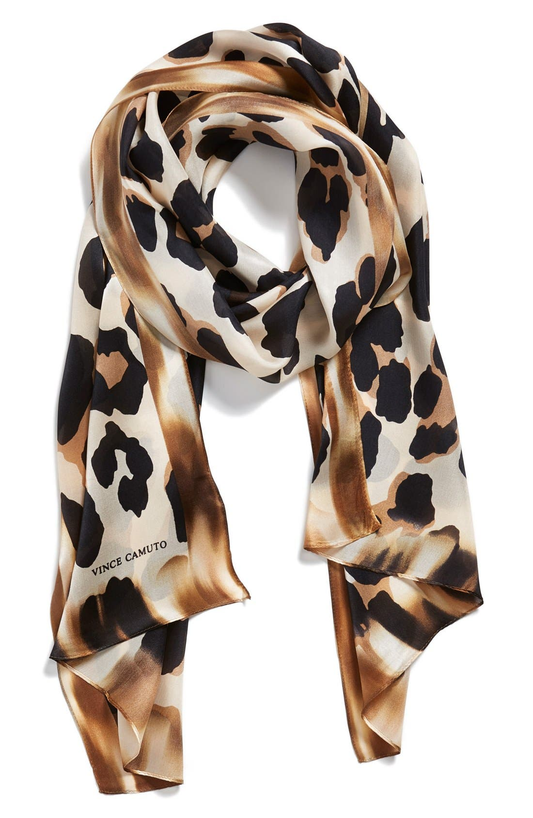 Alternate Image 1 Selected - Collection XIIX 'Blur Cheetah' Silk Scarf
