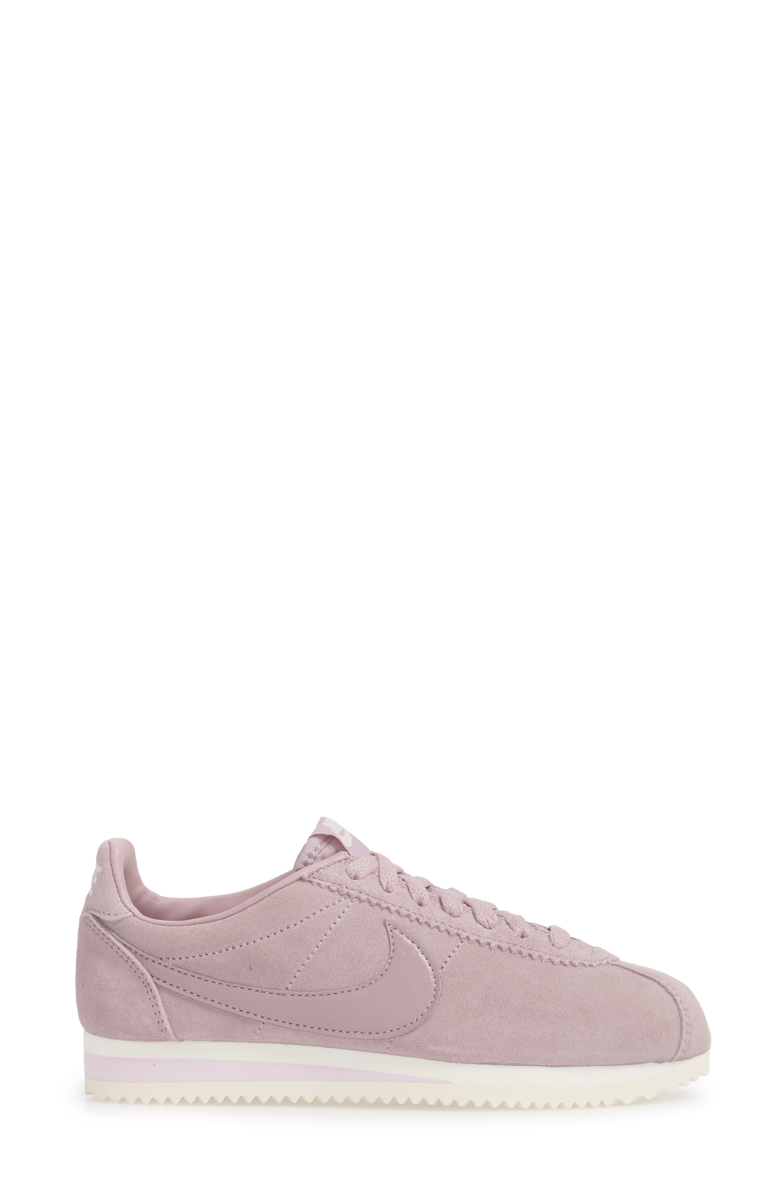Classic Cortez Suede Sneaker,                             Alternate thumbnail 3, color,                             Elemental Rose/ Elemental Rose