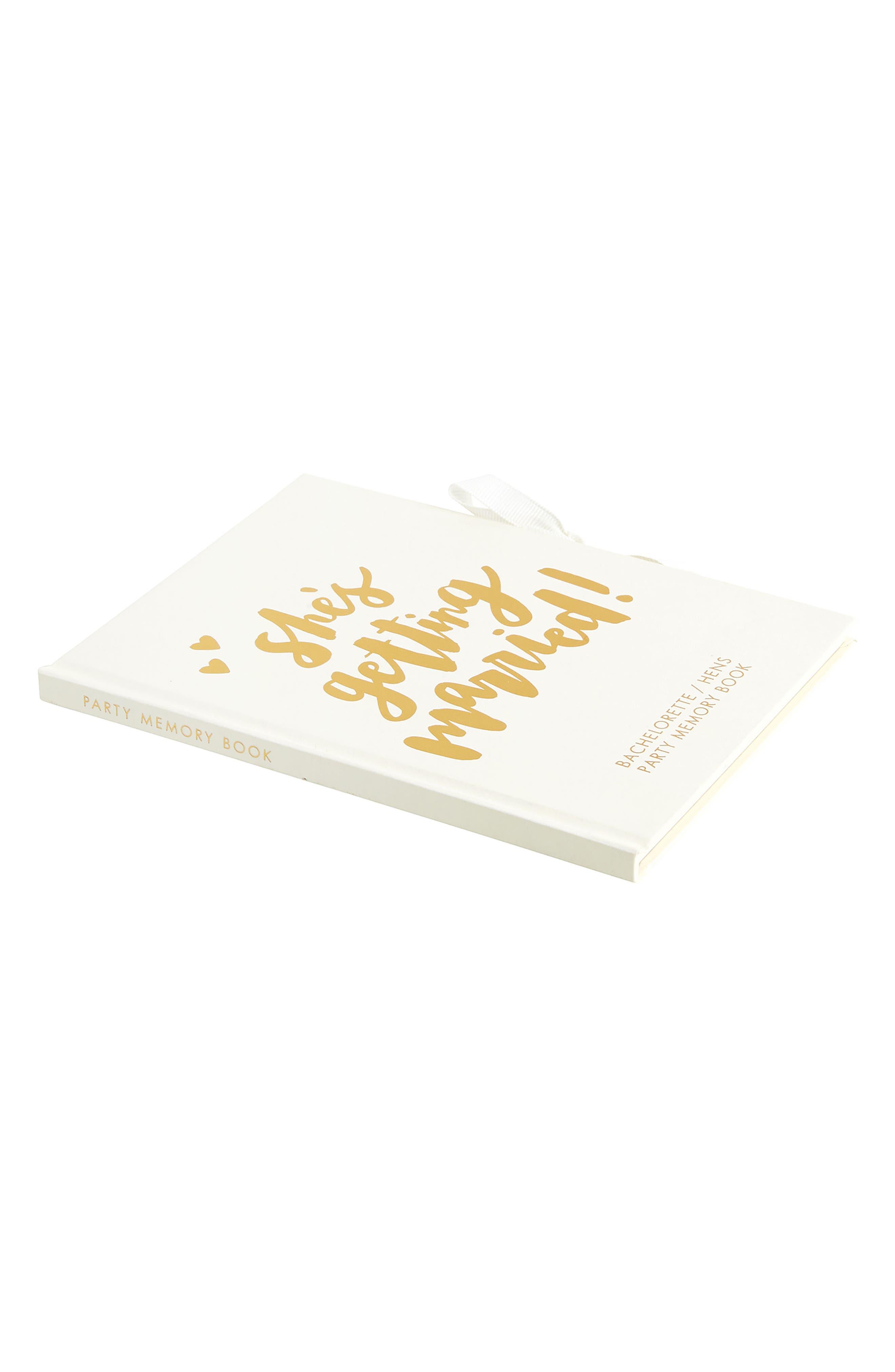 Hardcover Always & Forever Bachelorette Memory Book,                             Alternate thumbnail 4, color,                             White