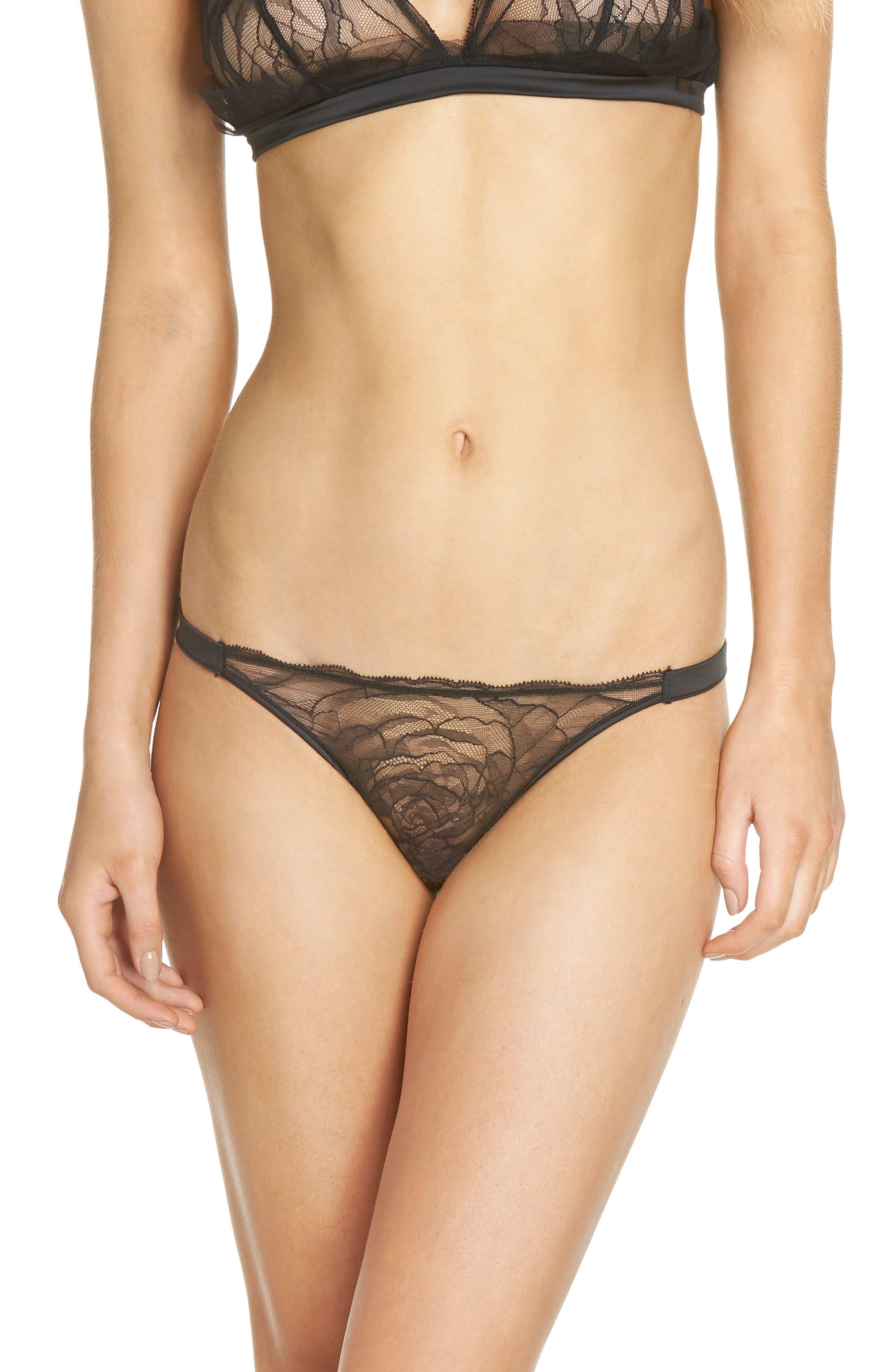 Lace Bikini,                         Main,                         color, Black