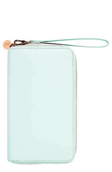 kikki.K Leather Zip-Around Travel Wallet