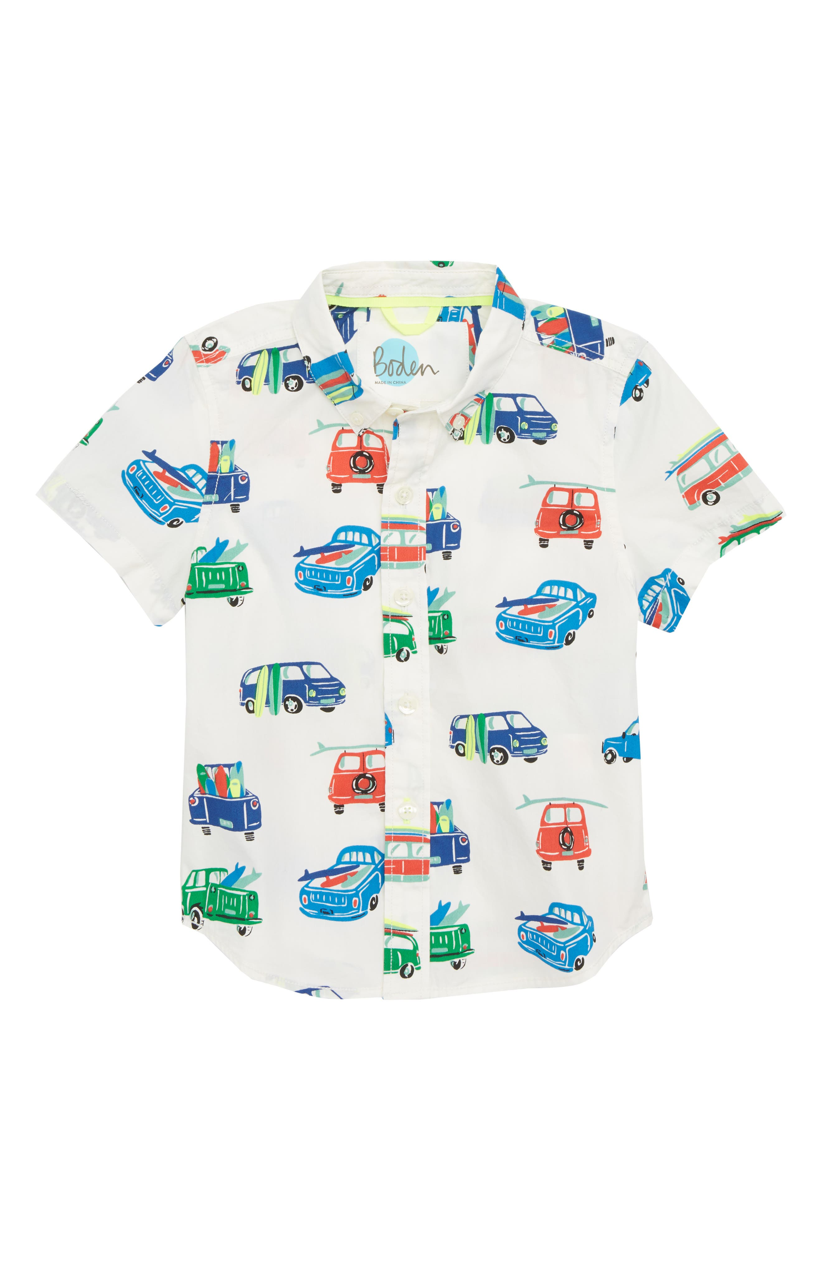 Mini Boden Fun Surf Vans Shirt (Toddler Boys, Little Boys & Big Boys)