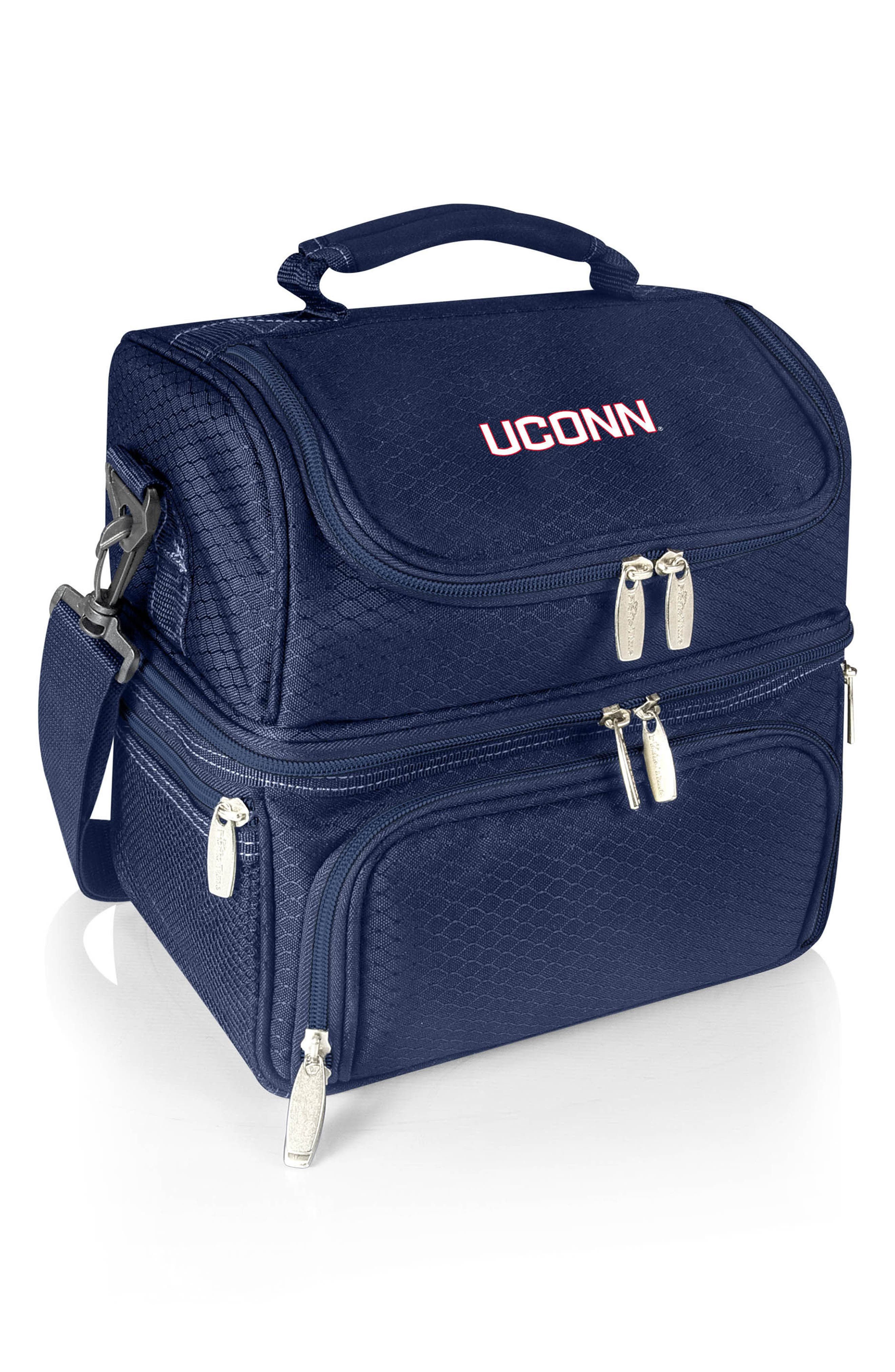 Navy Pranzo College Team Logo Lunch Tote,                         Main,                         color, Uconn Huskies