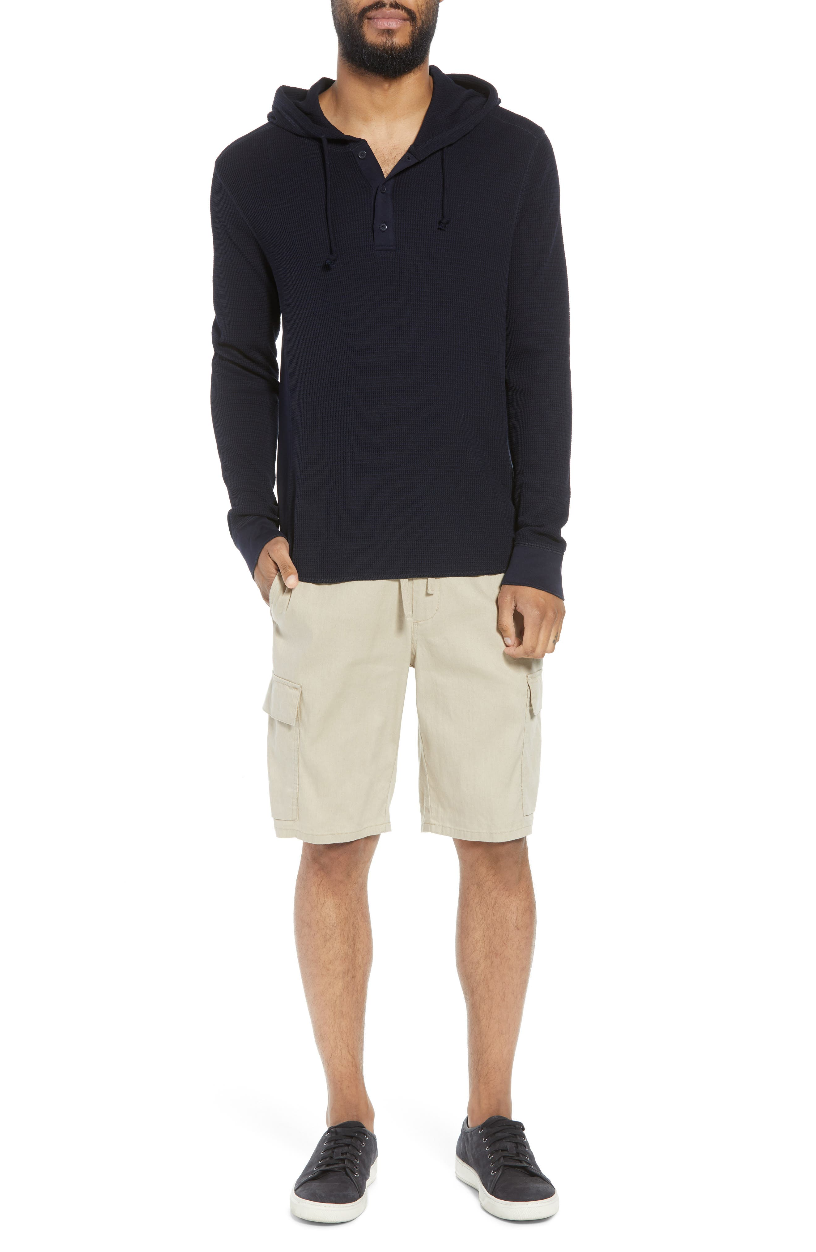 Regular Fit Thermal Knit Pullover Hoodie,                             Alternate thumbnail 6, color,                             New Coastal