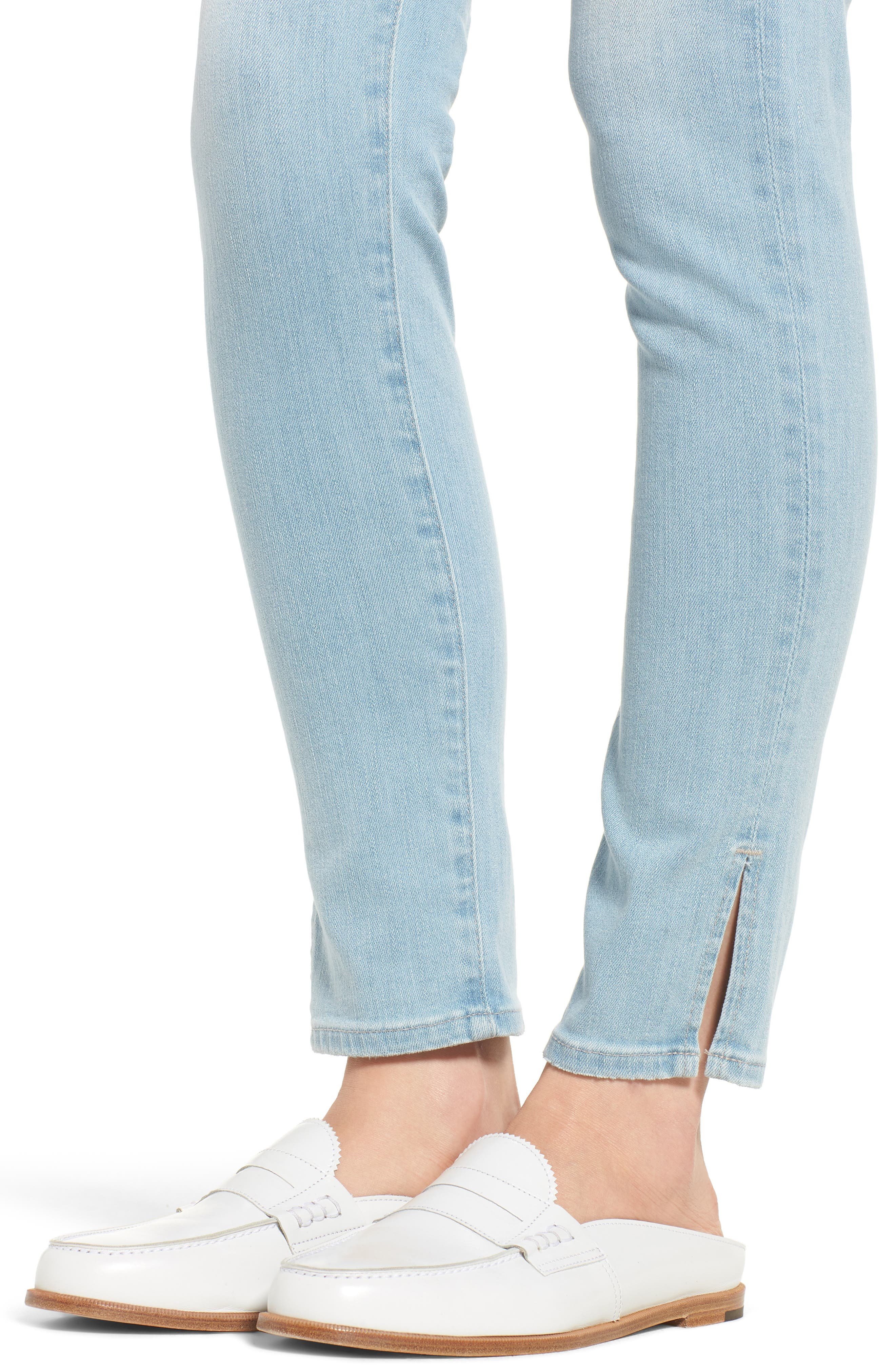 Farrah High Waist Ankle Skinny Jeans,                             Alternate thumbnail 4, color,                             20 Years Sutro