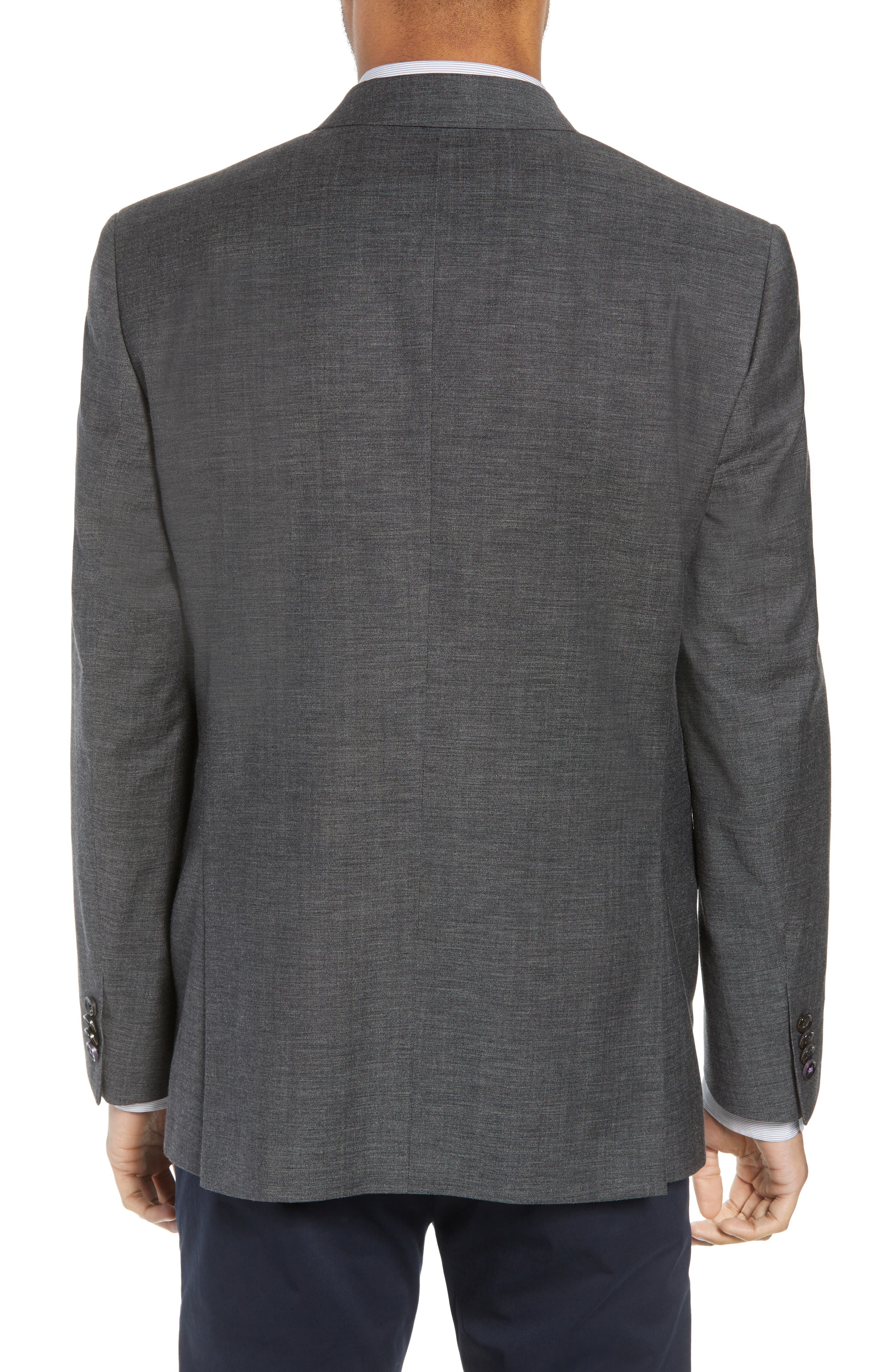 Jay Trim Fit Heathered Wool & Cotton Sport Coat,                             Alternate thumbnail 2, color,                             Grey
