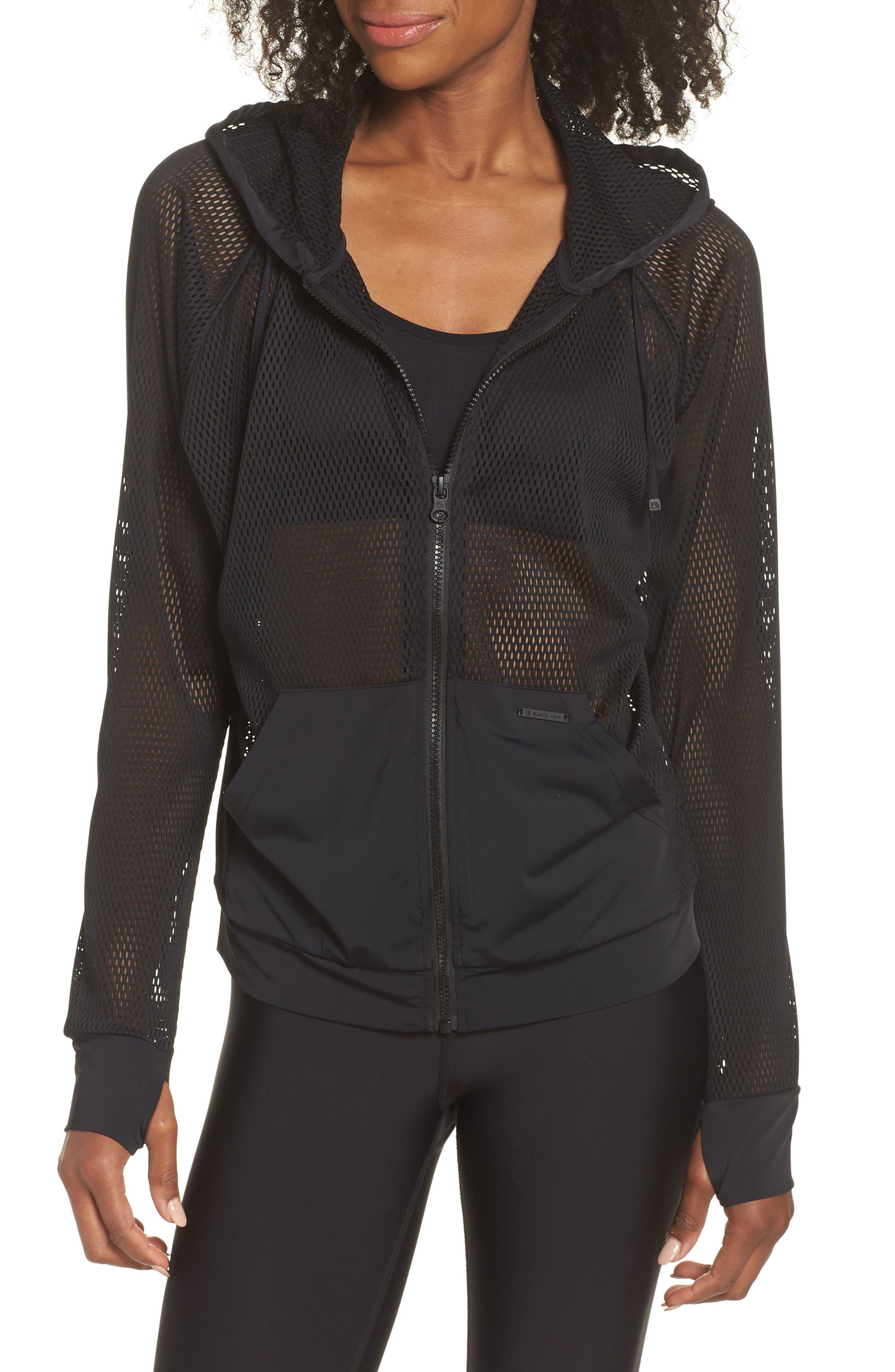 Pool Side Mesh Jacket,                         Main,                         color, Black