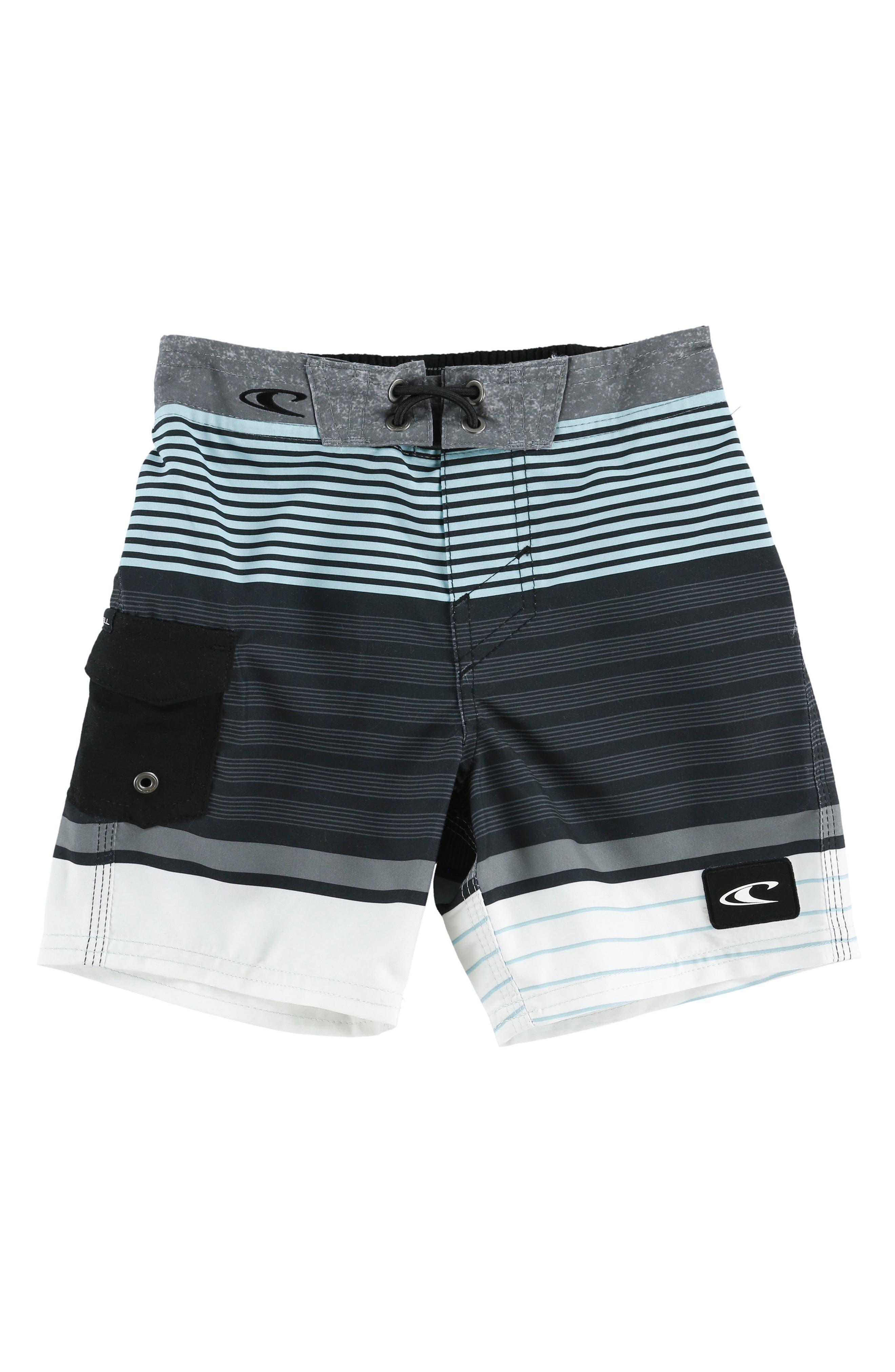 Lennox Stripe Board Shorts,                         Main,                         color, Asphalt