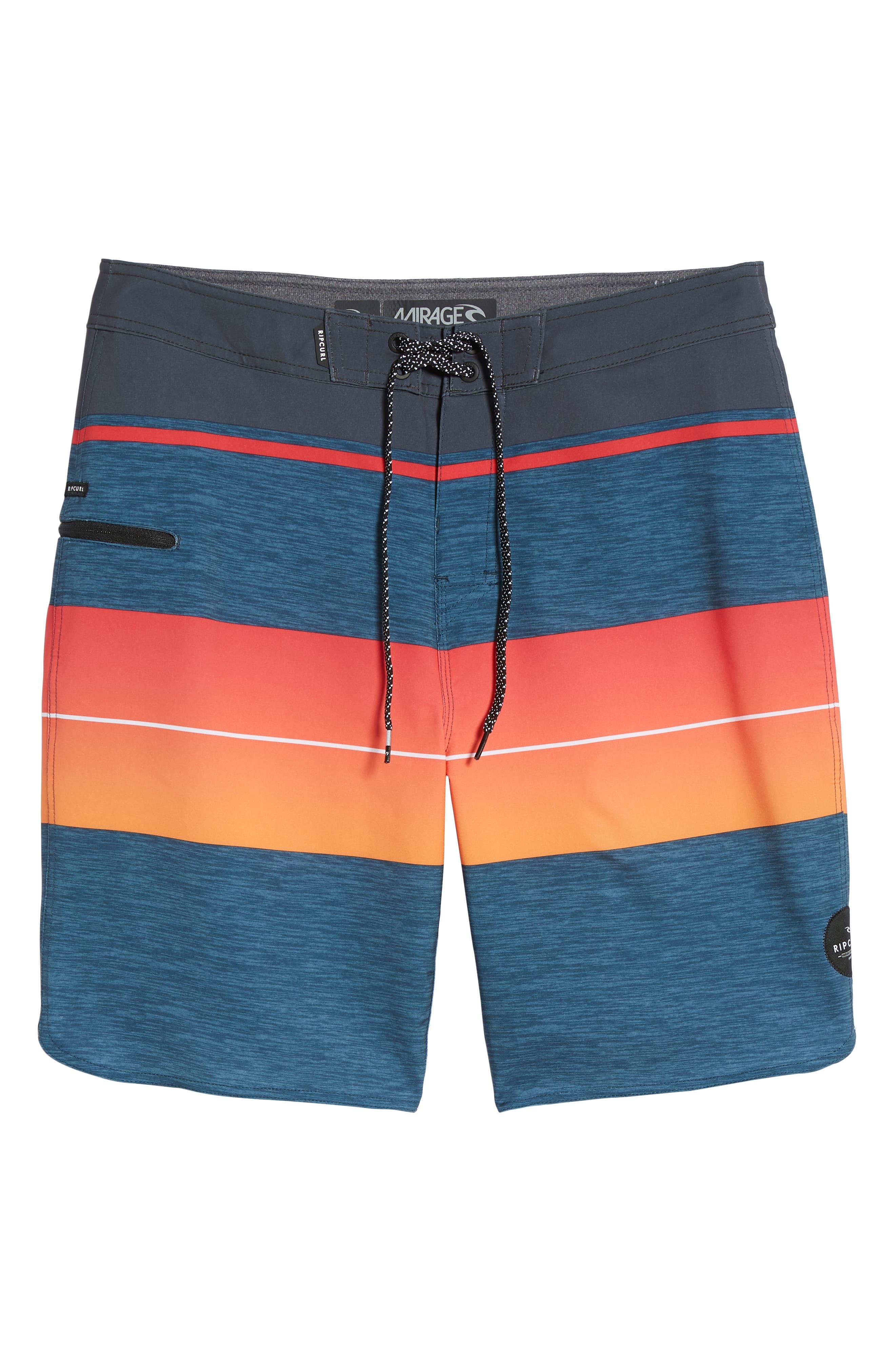 Mirage Eclipse Board Shorts,                             Alternate thumbnail 6, color,                             Orange