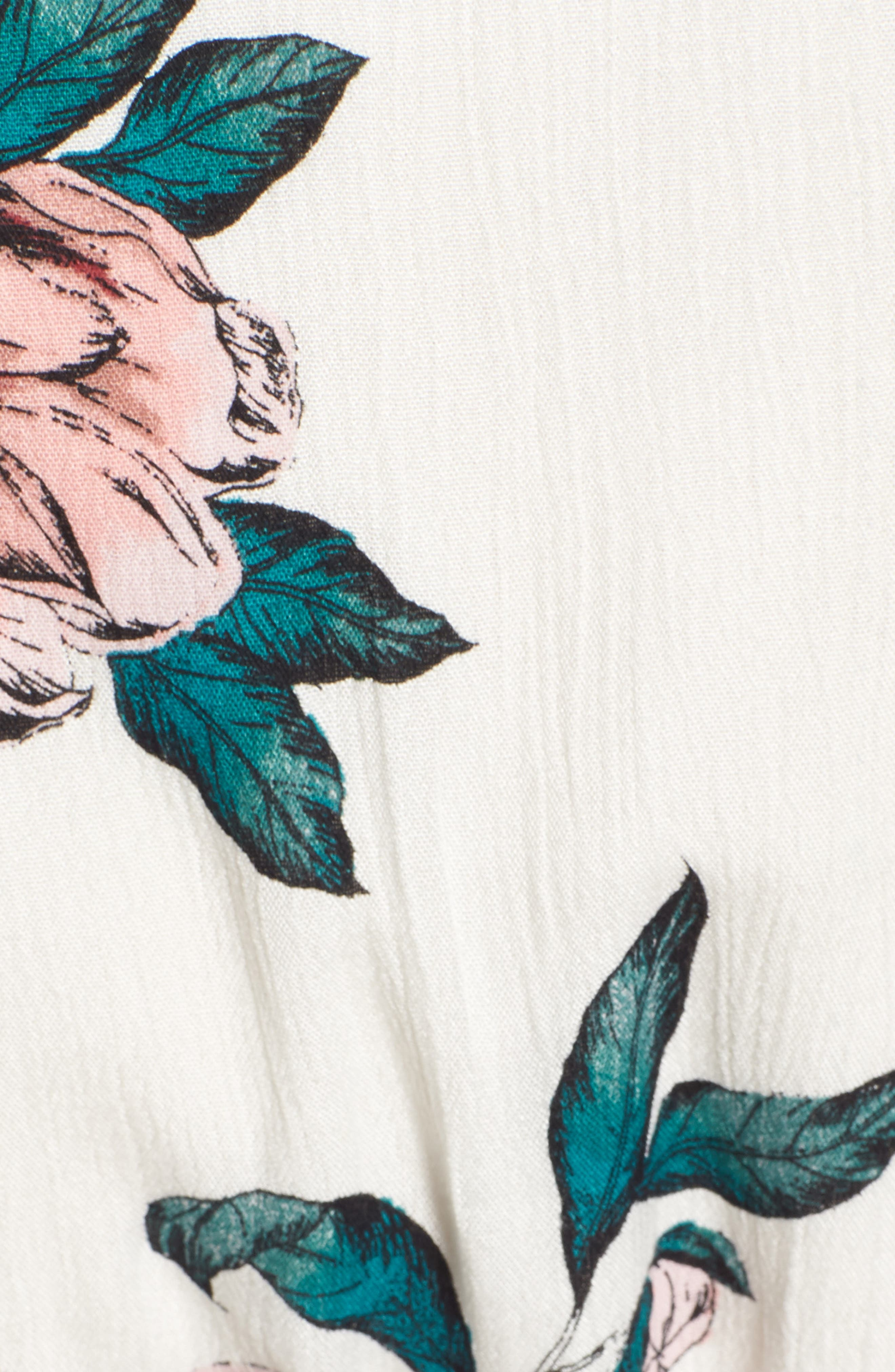 Love and War Ruffle Trim Minidress,                             Alternate thumbnail 6, color,                             Cool Wip