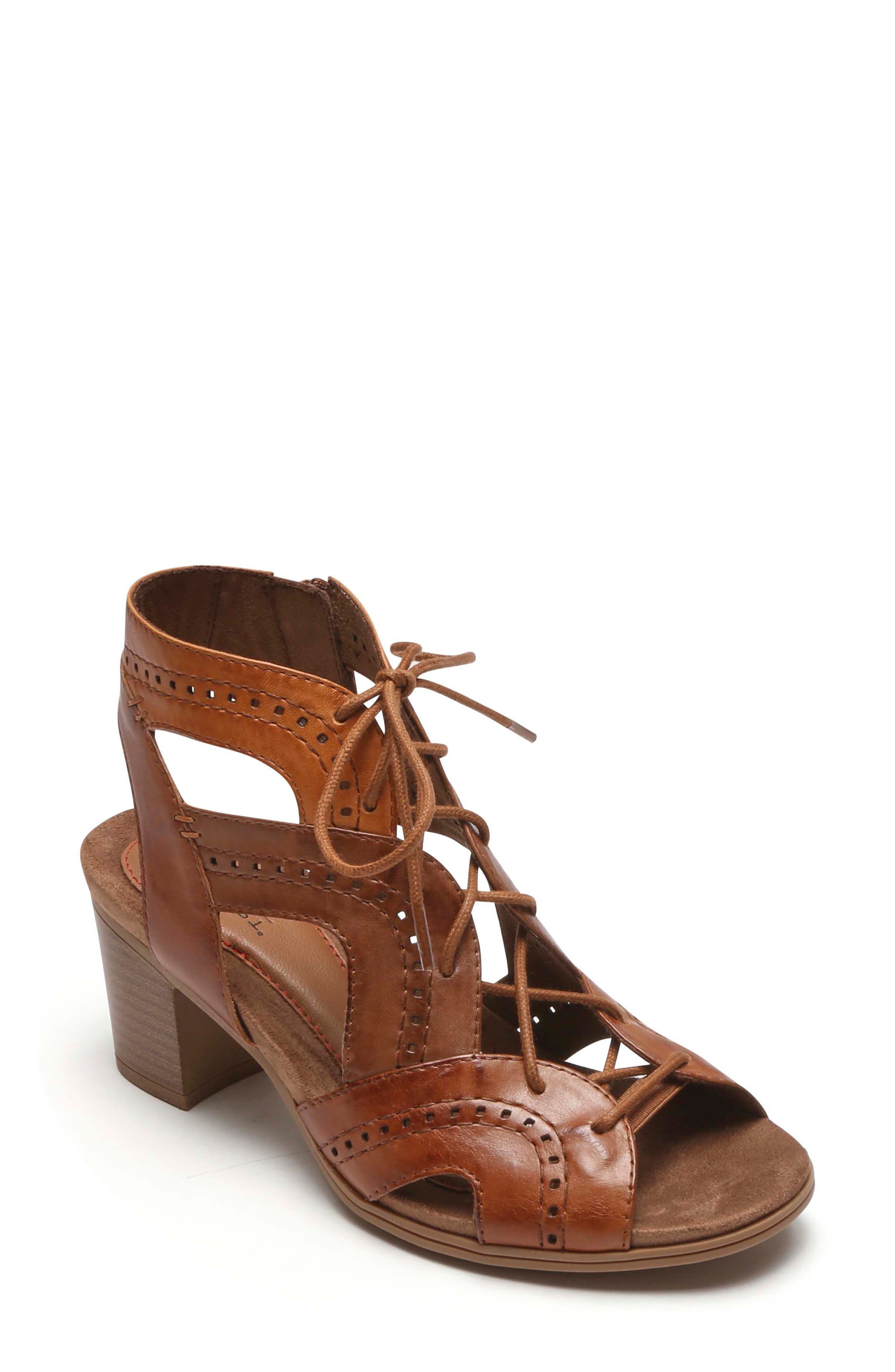 Rockport Cobb Hill Hattie Lace-up Sandal (Women)