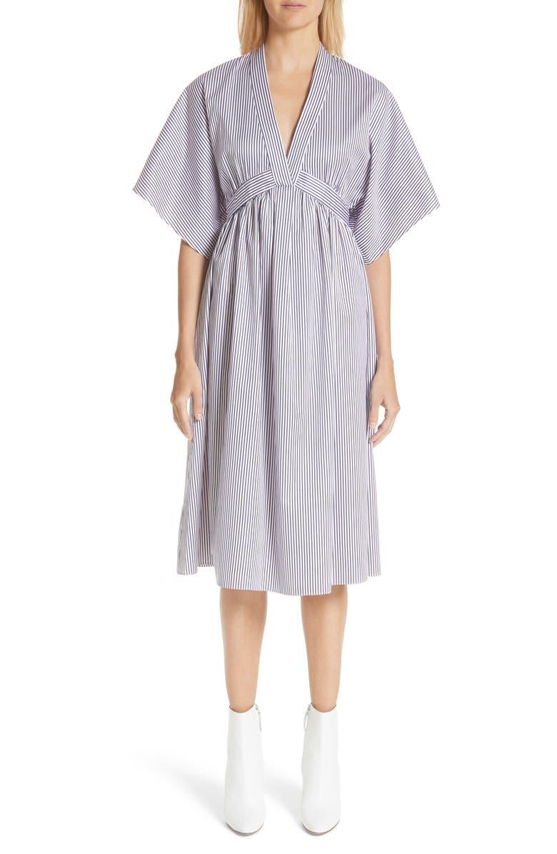 Stripe Cotton Jacquard Dress