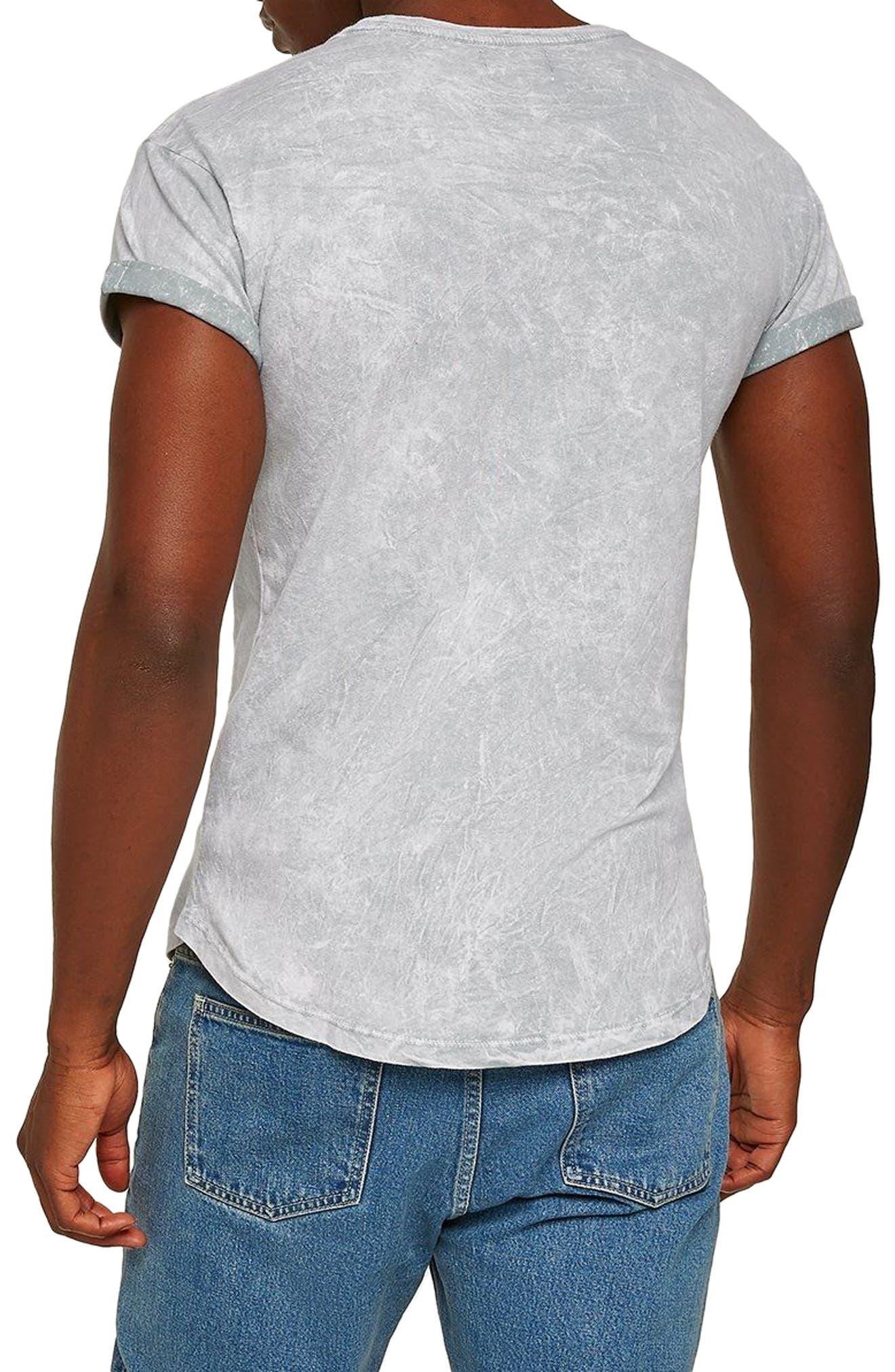 Crinkle Marble T-Shirt,                             Alternate thumbnail 2, color,                             Grey