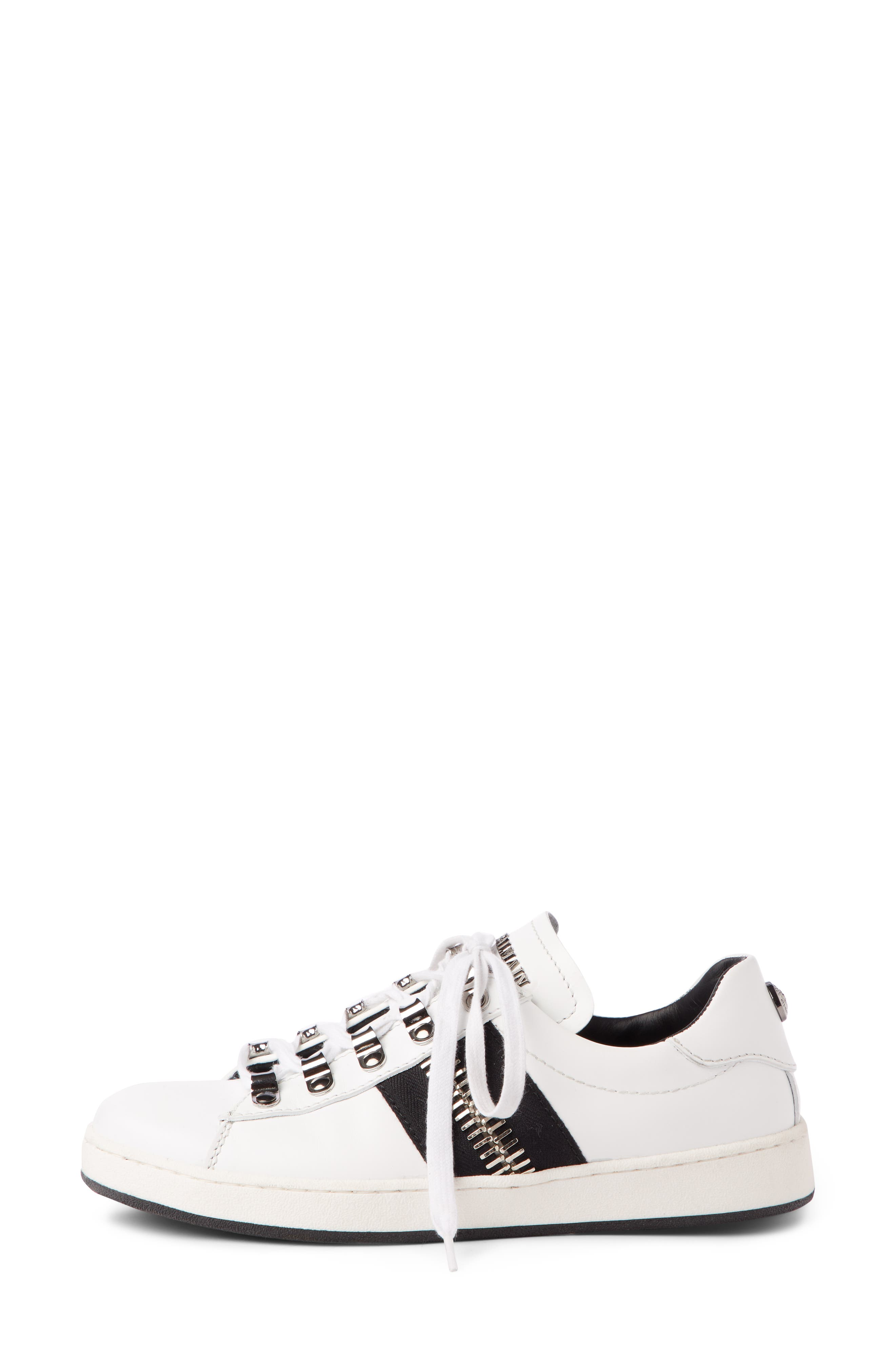 Esther Low Top Sneaker,                             Alternate thumbnail 4, color,                             White