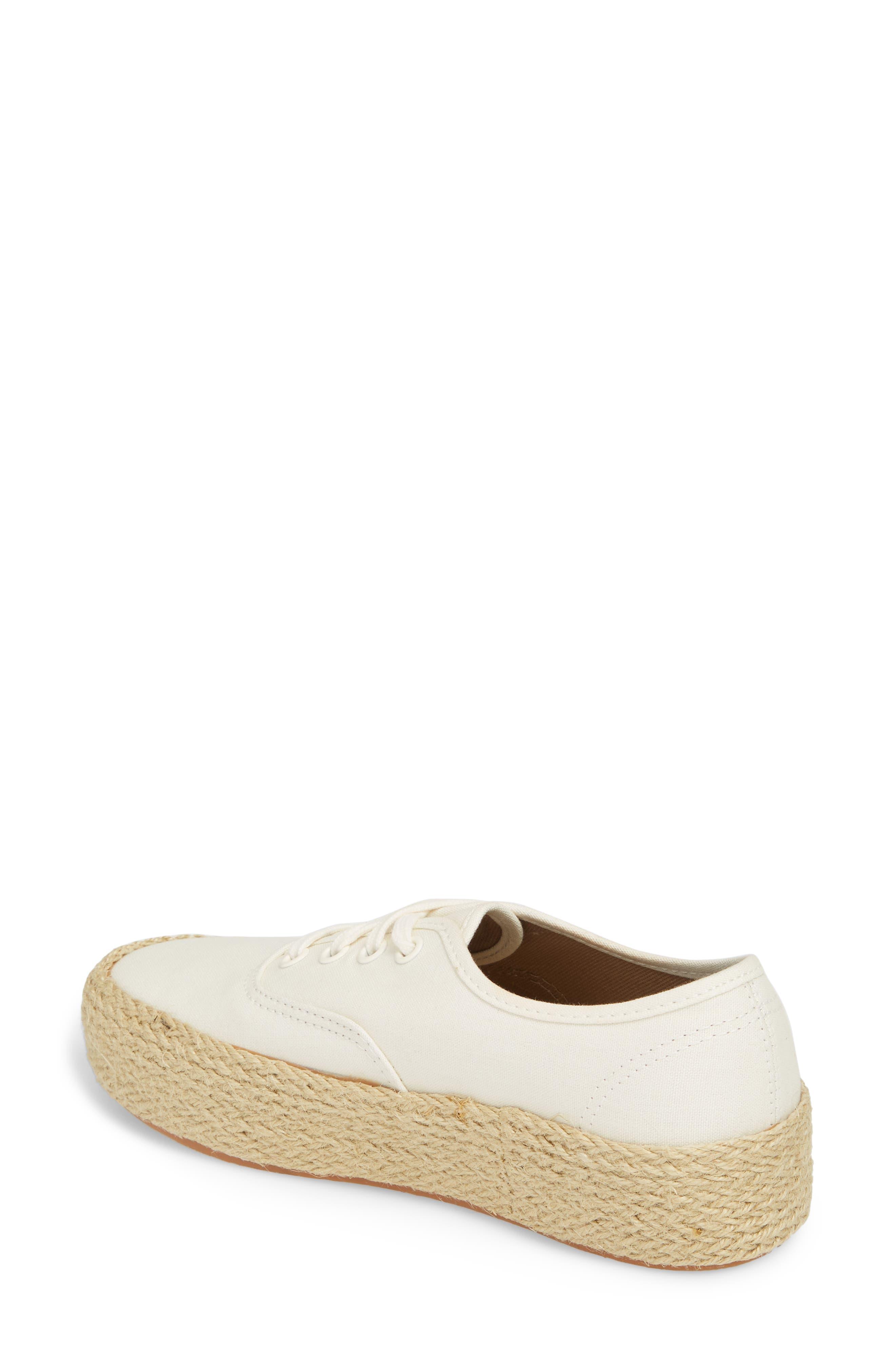 Authentic Espadrille Platform Sneaker,                             Alternate thumbnail 2, color,                             Marshmallow