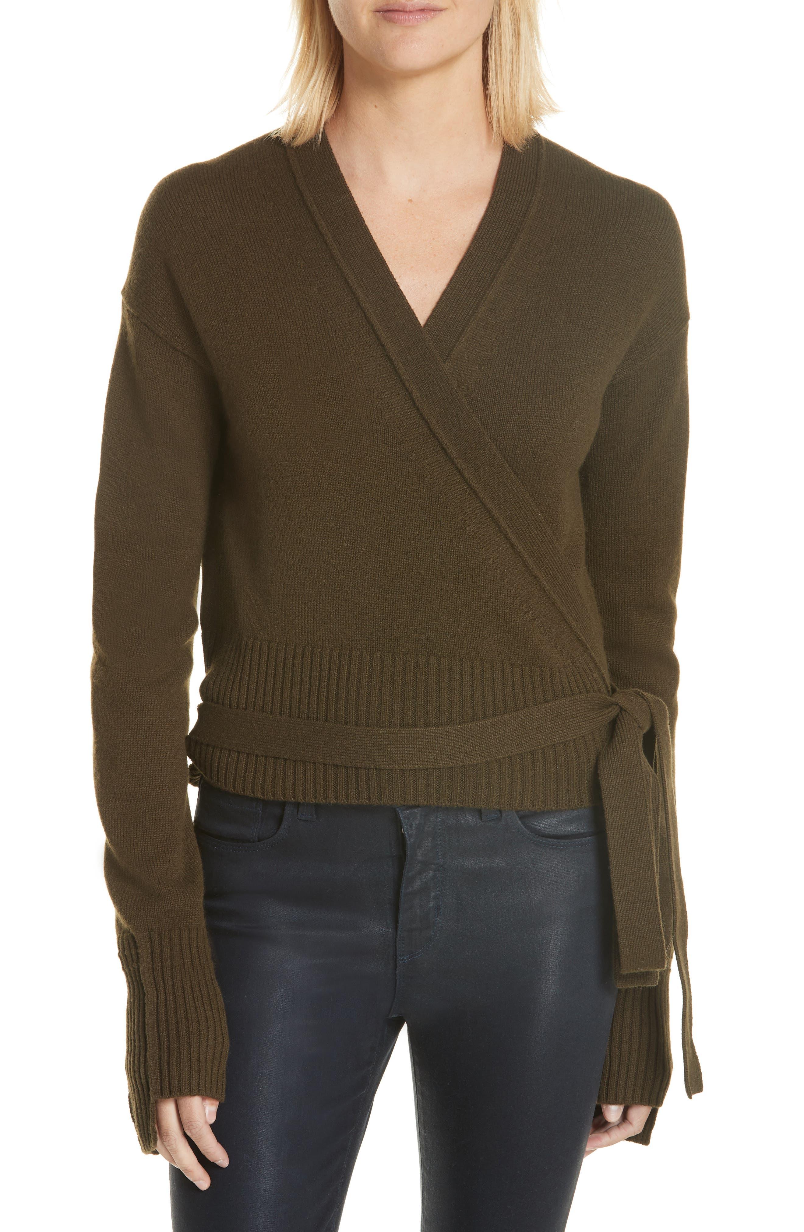 Cashmere Wrap Cardigan,                         Main,                         color, Peat