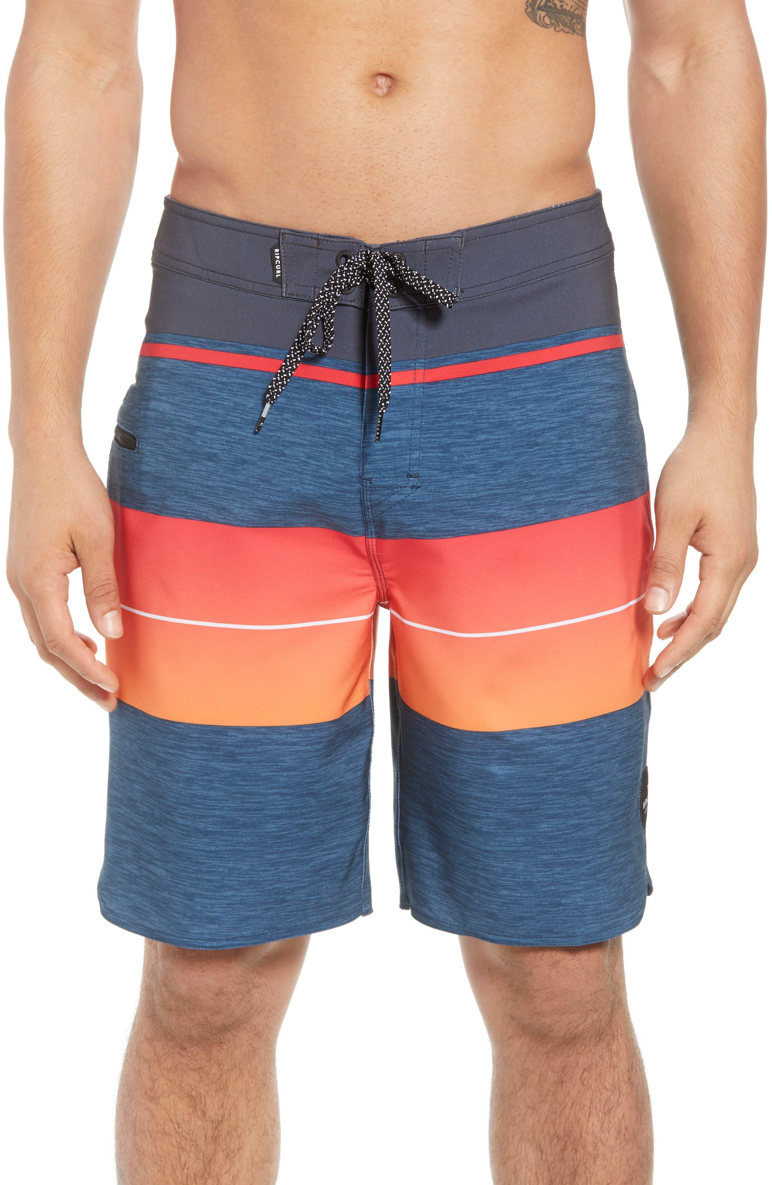 Mirage Eclipse Board Shorts,                             Main thumbnail 1, color,                             Orange