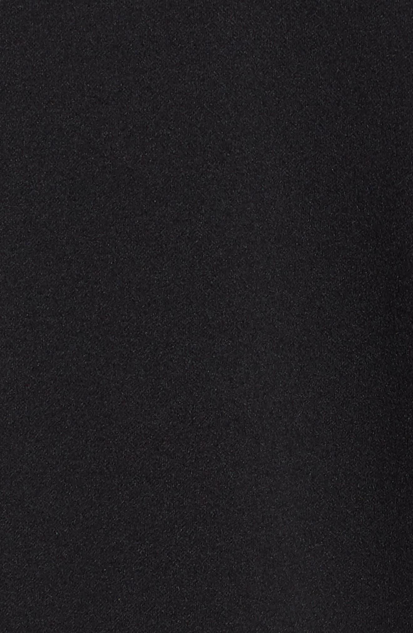 Strapless Culotte Jumpsuit,                             Alternate thumbnail 6, color,                             Black