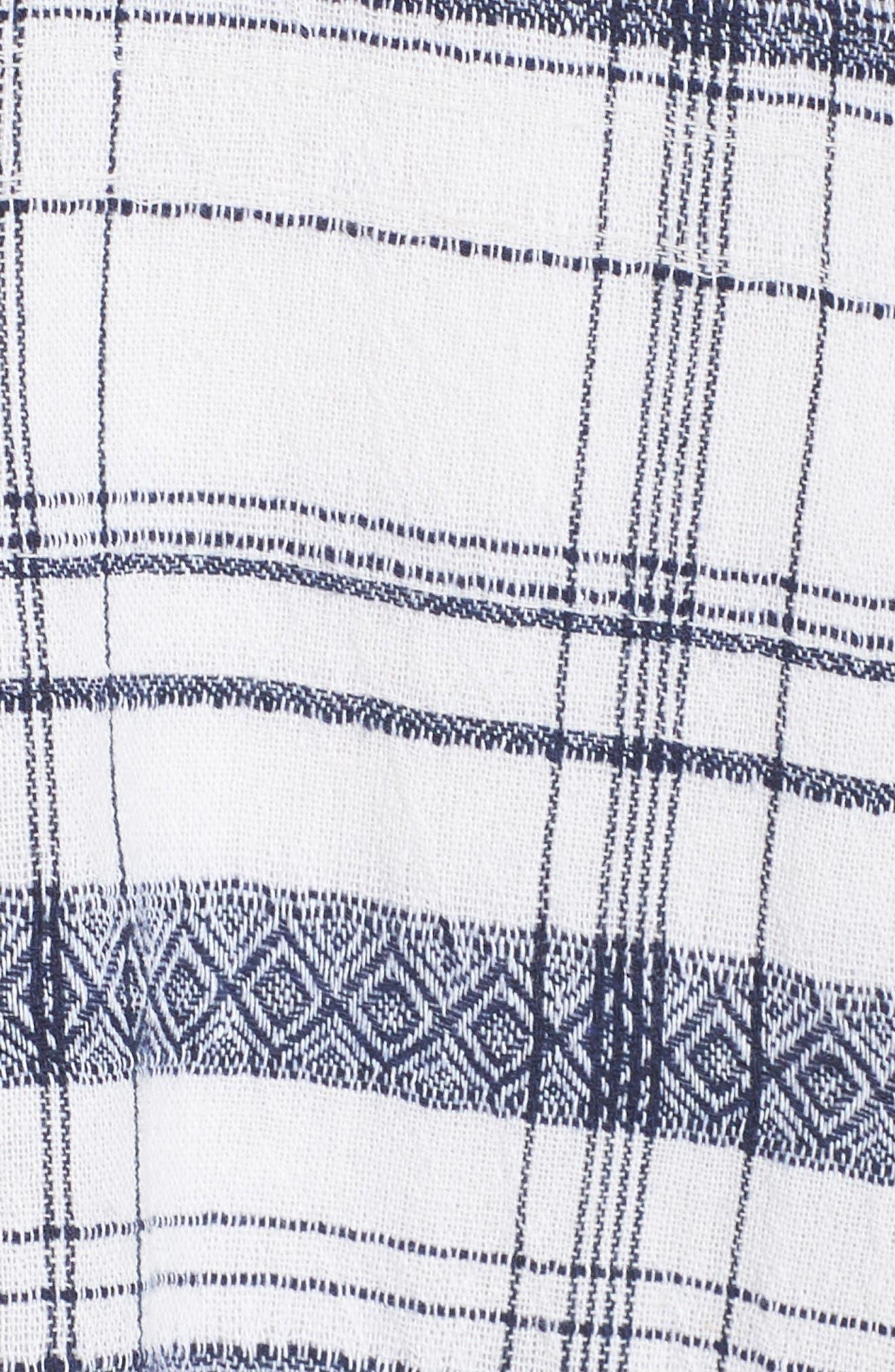 Aubrey Plaid Fit & Flare Dress,                             Alternate thumbnail 6, color,                             Multi