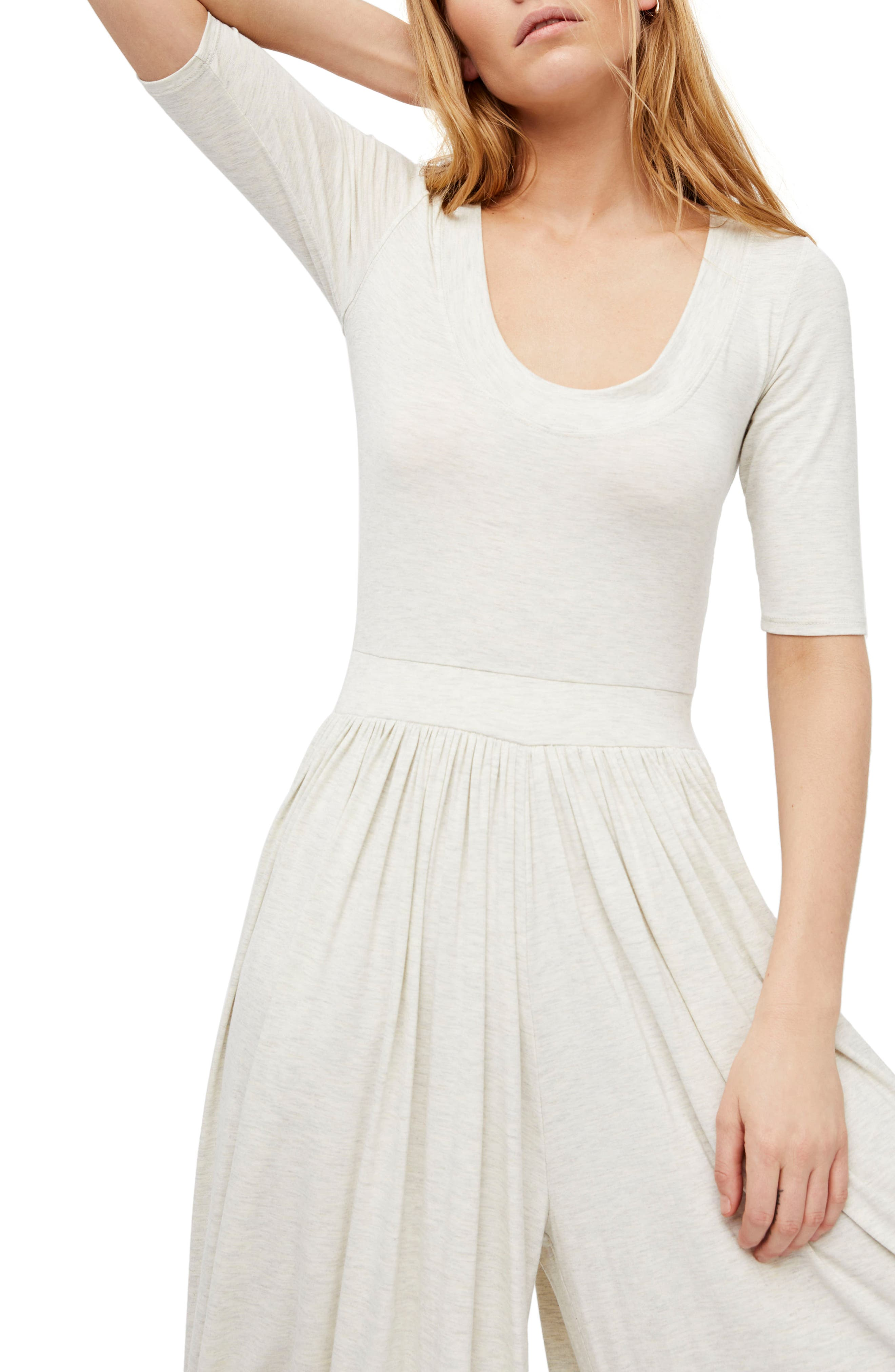 Endless Summer by Free People Rosebowl Jumpsuit,                             Alternate thumbnail 3, color,                             Neutral