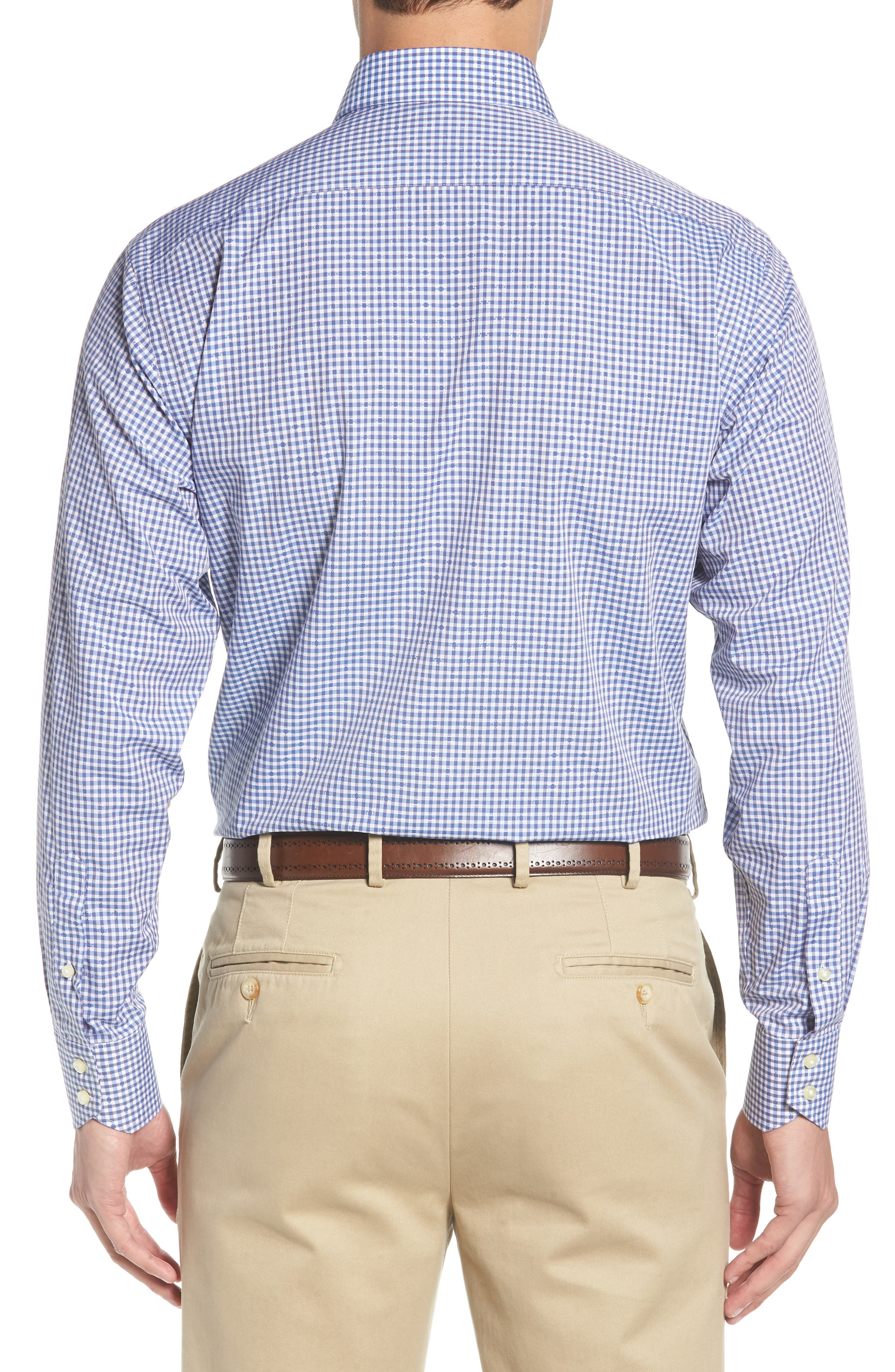 Alternate Image 3  - Thomas Dean Mini Check Sport Shirt