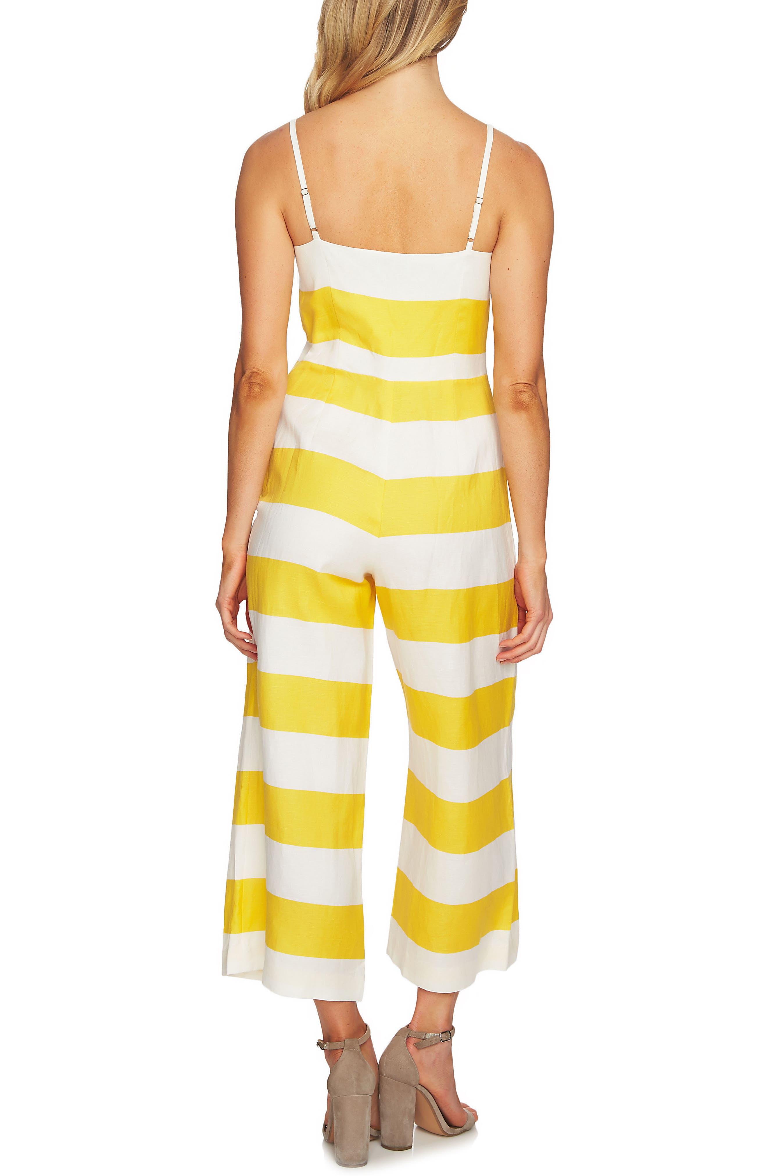 Carnival Stripe Jumpsuit,                             Alternate thumbnail 2, color,                             Safari Sun