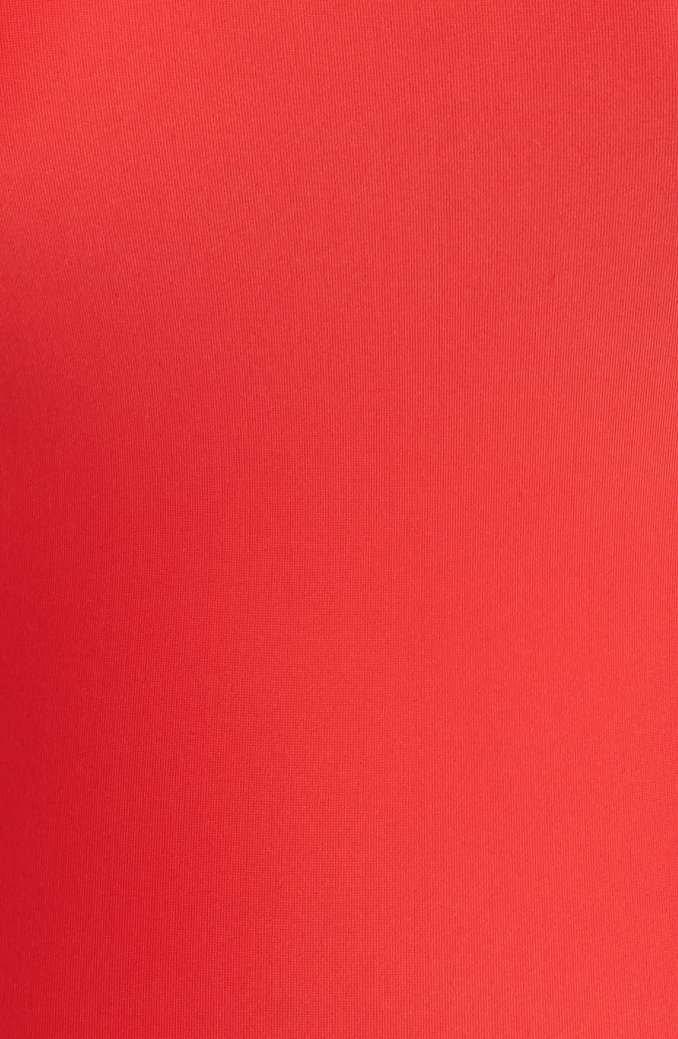 Saldana One-Piece Swimsuit,                             Alternate thumbnail 5, color,                             Red