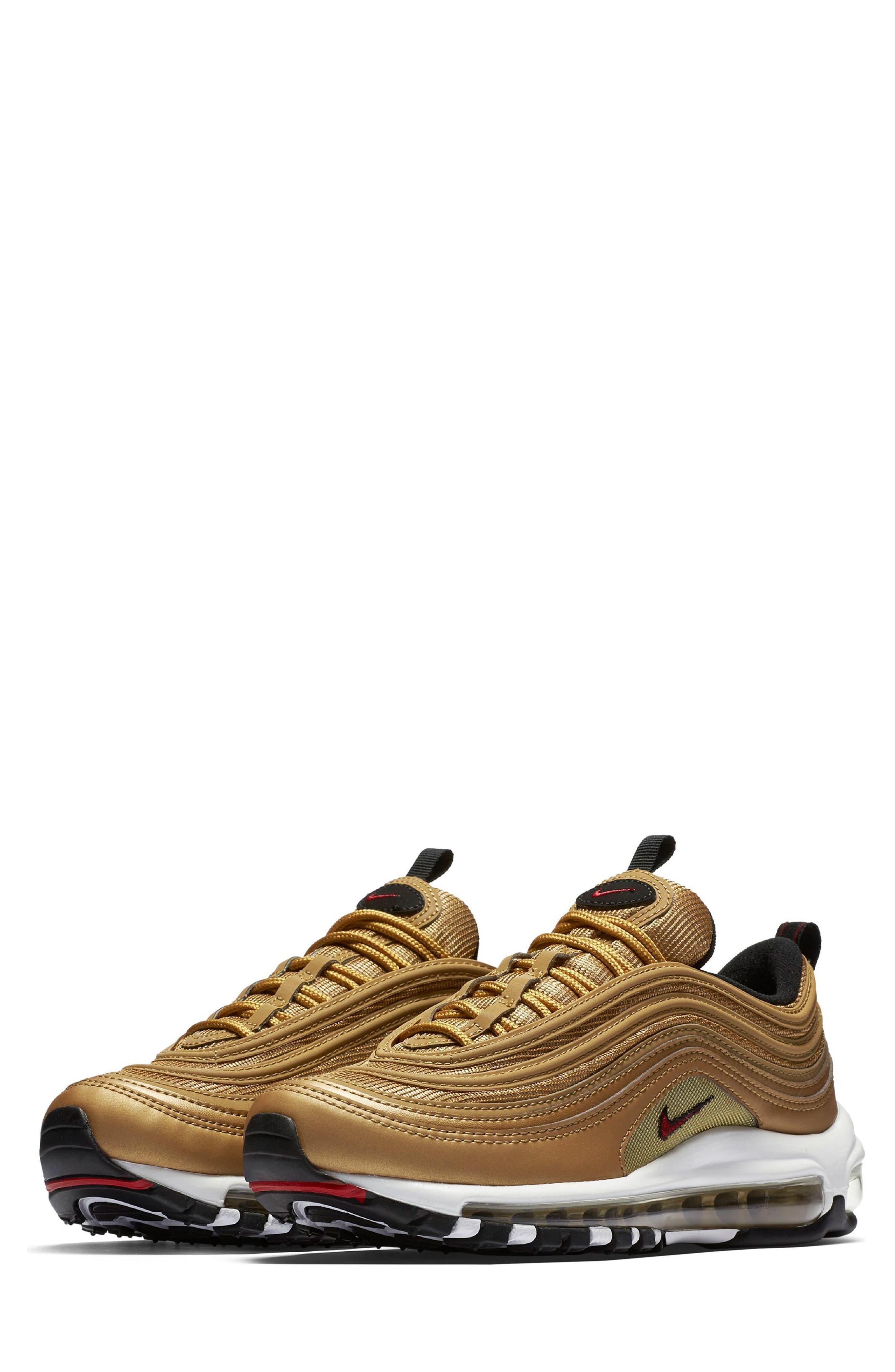 Air Max 97 OG Sneaker,                             Main thumbnail 1, color,                             Gold/ Red/ White/ Black