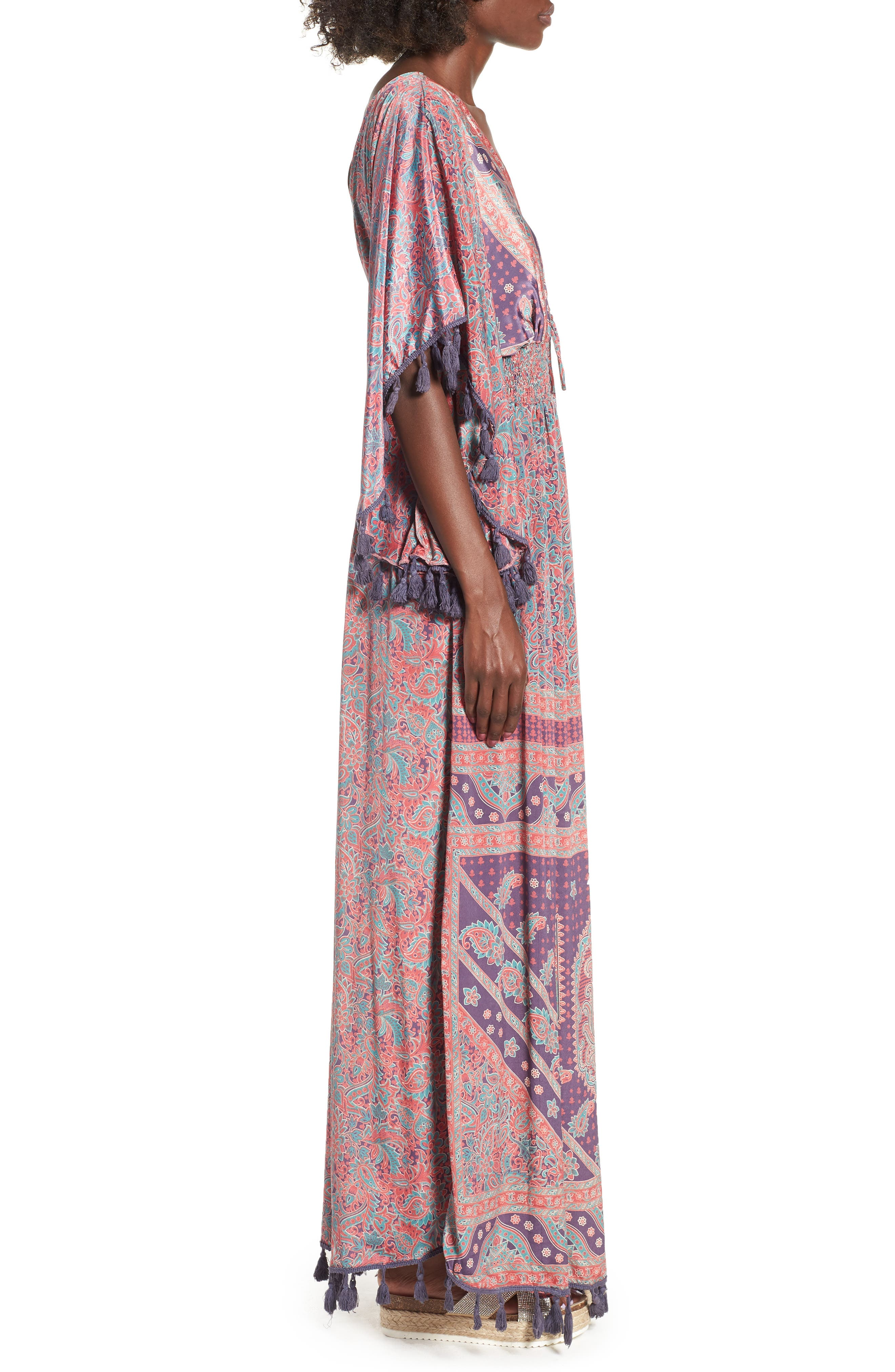 Electric Love Maxi Dress,                             Alternate thumbnail 6, color,                             Multi