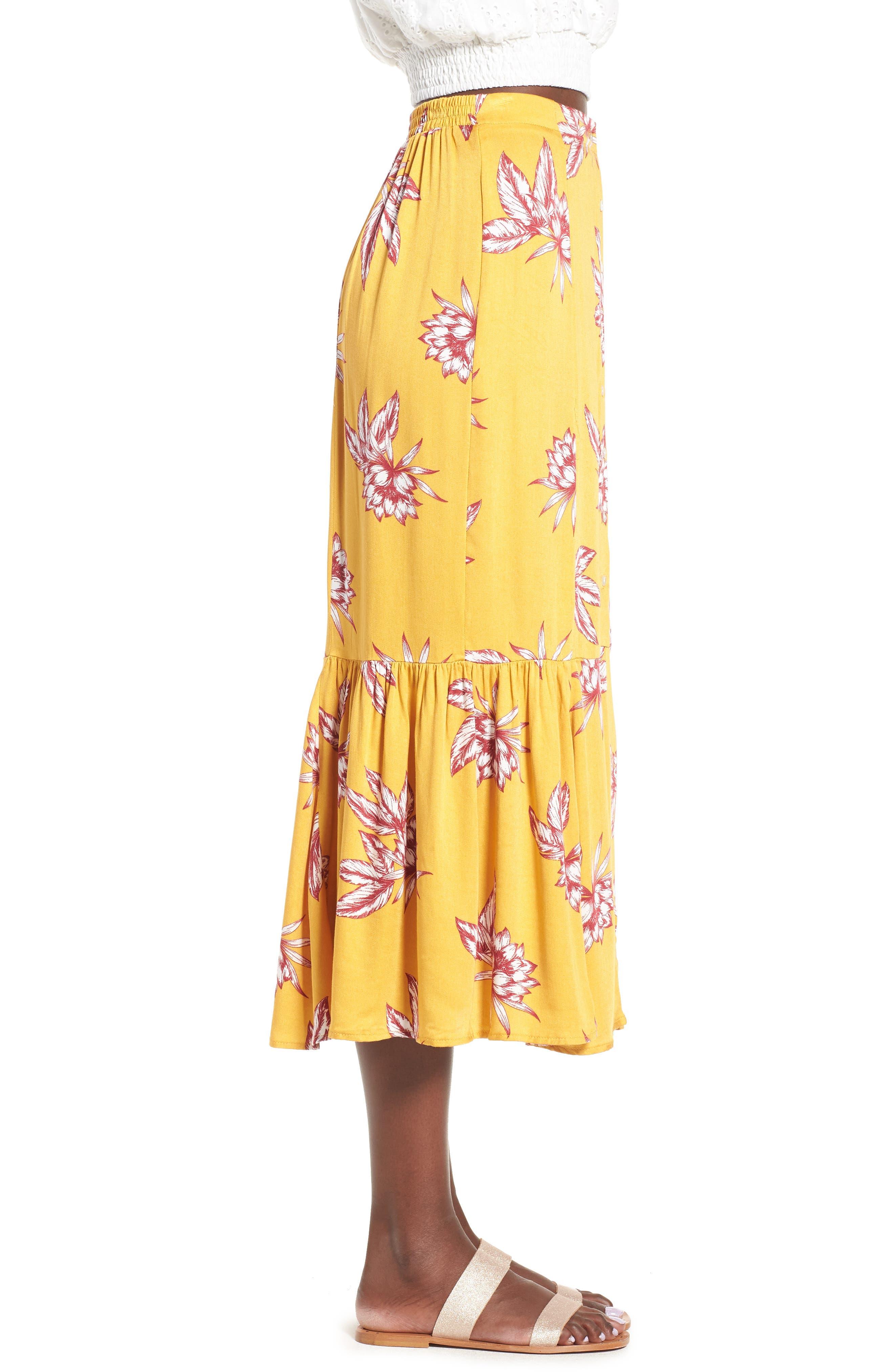 Searing Soul Midi Skirt,                             Alternate thumbnail 4, color,                             Multi