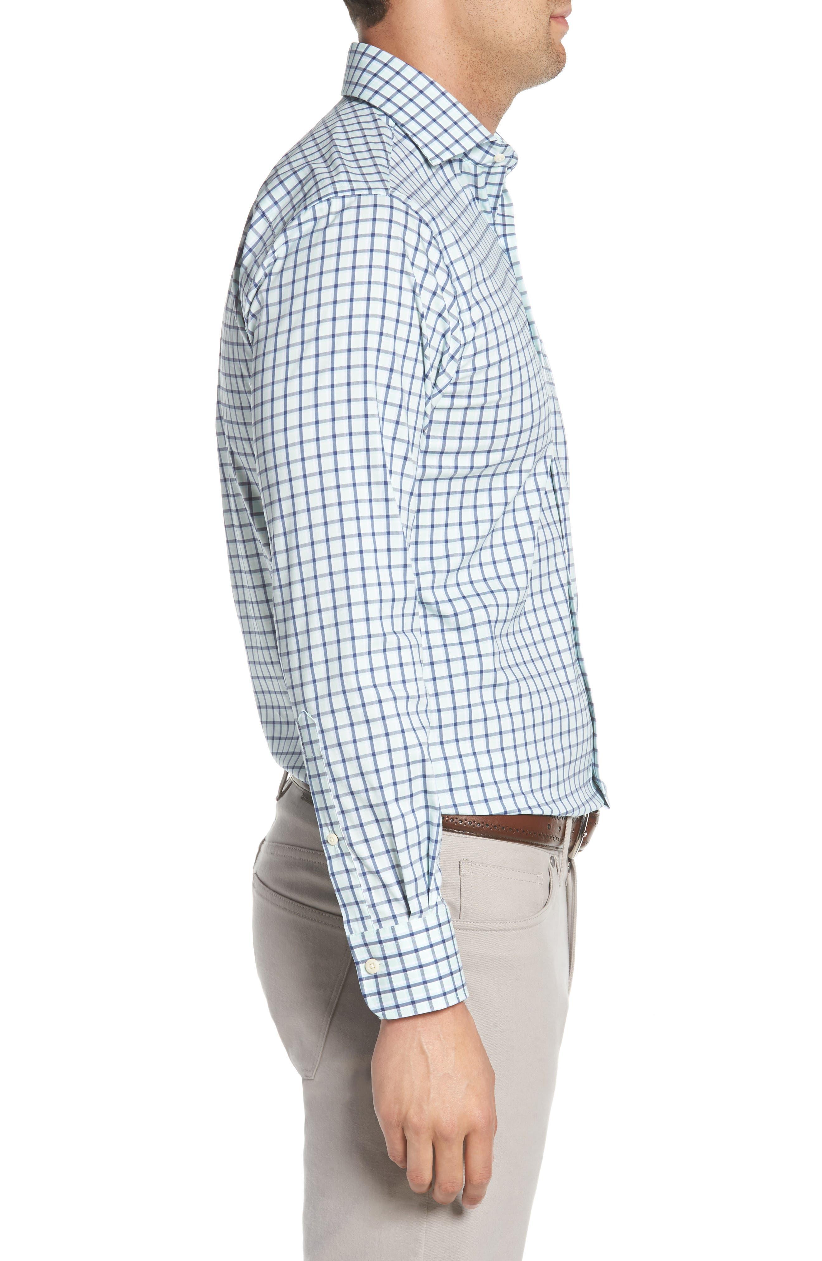 Crown Comfort Check Sport Shirt,                             Alternate thumbnail 4, color,                             Cays