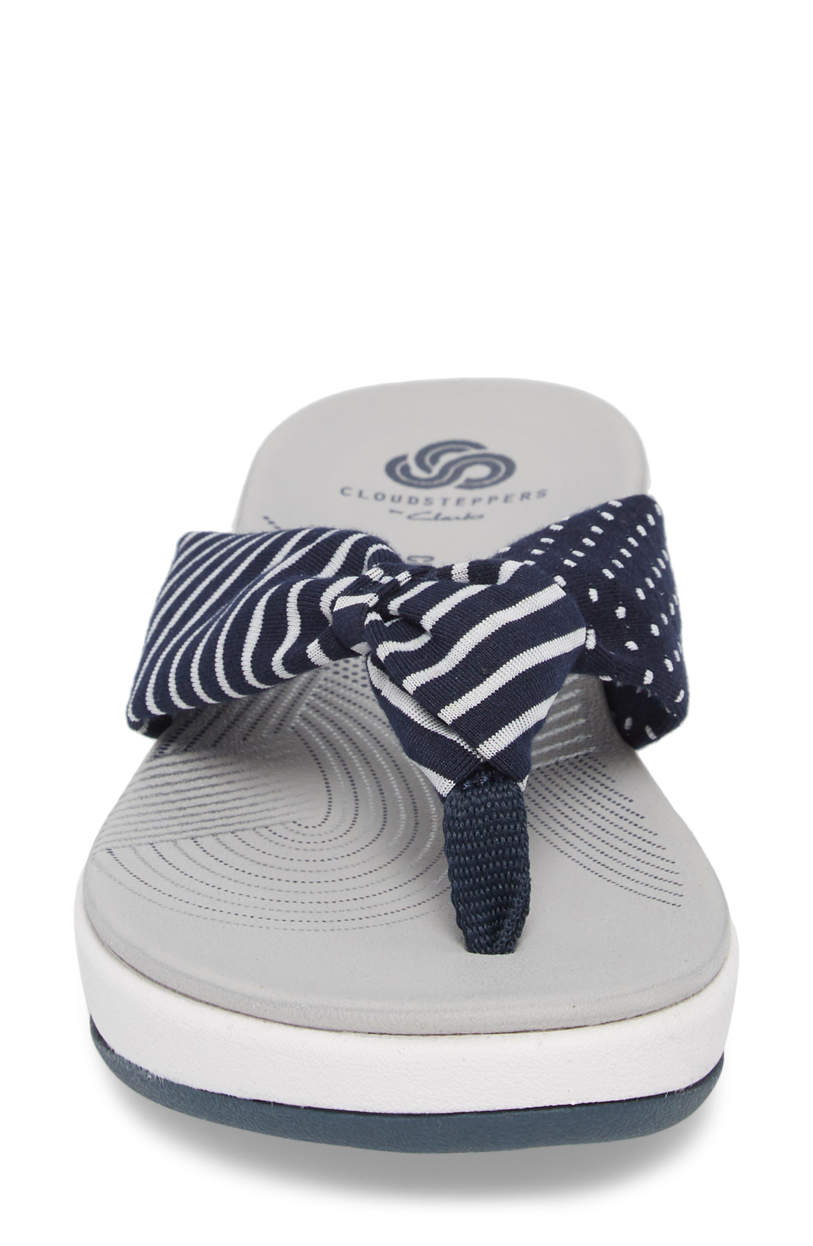 Arla Glison Flip Flop,                             Alternate thumbnail 4, color,                             Navy Fabric