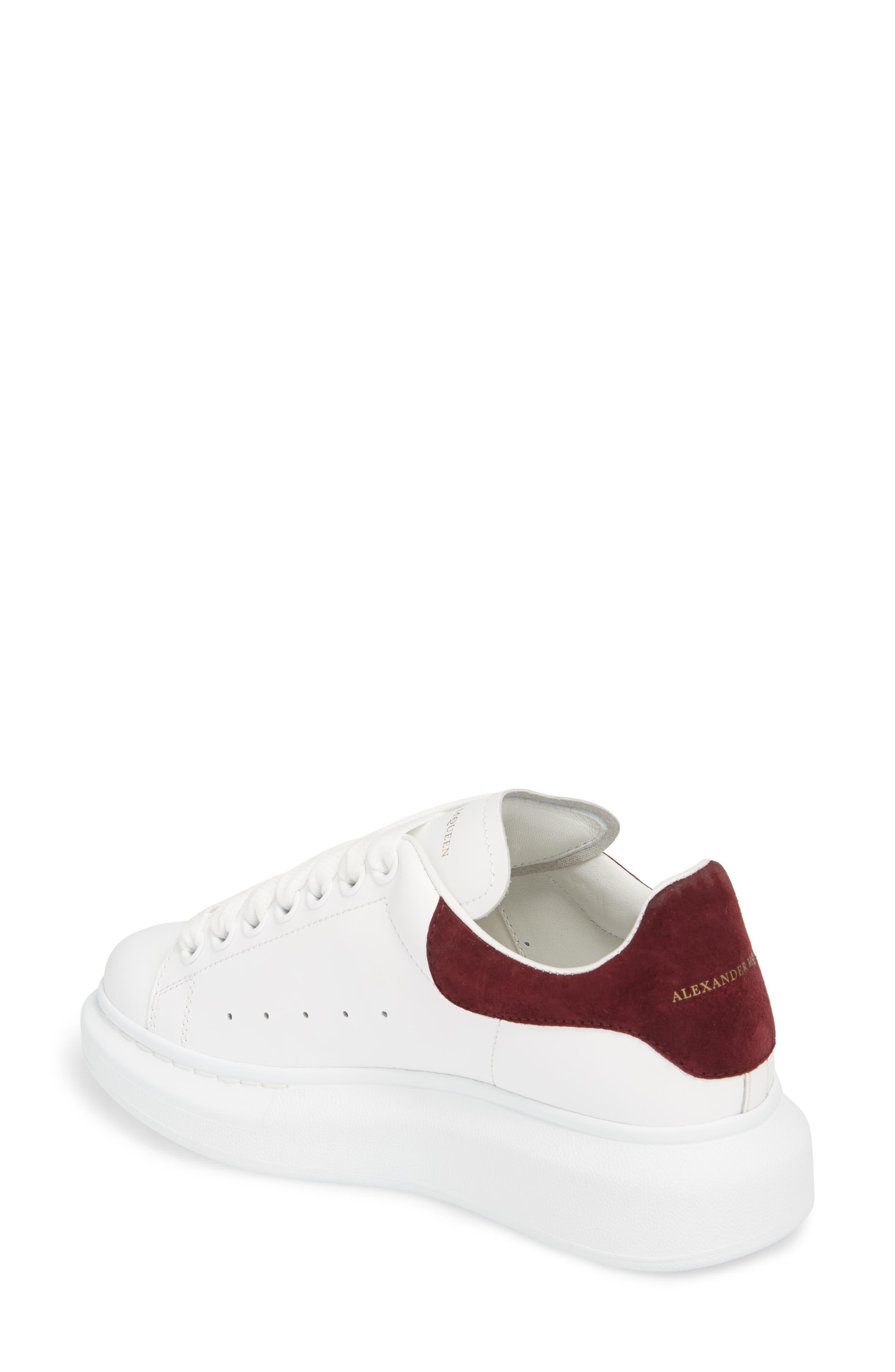 Sneaker,                             Alternate thumbnail 2, color,                             White/ Burgundy