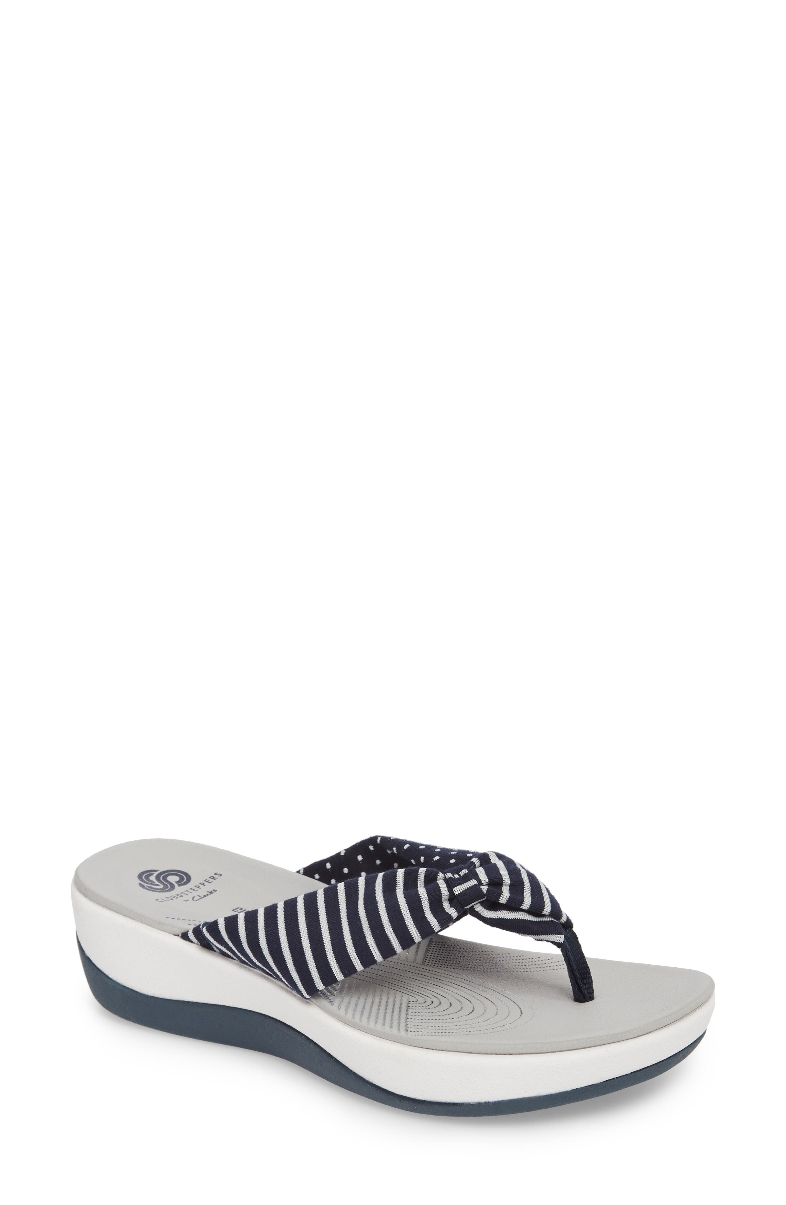 Arla Glison Flip Flop,                         Main,                         color, Navy Fabric
