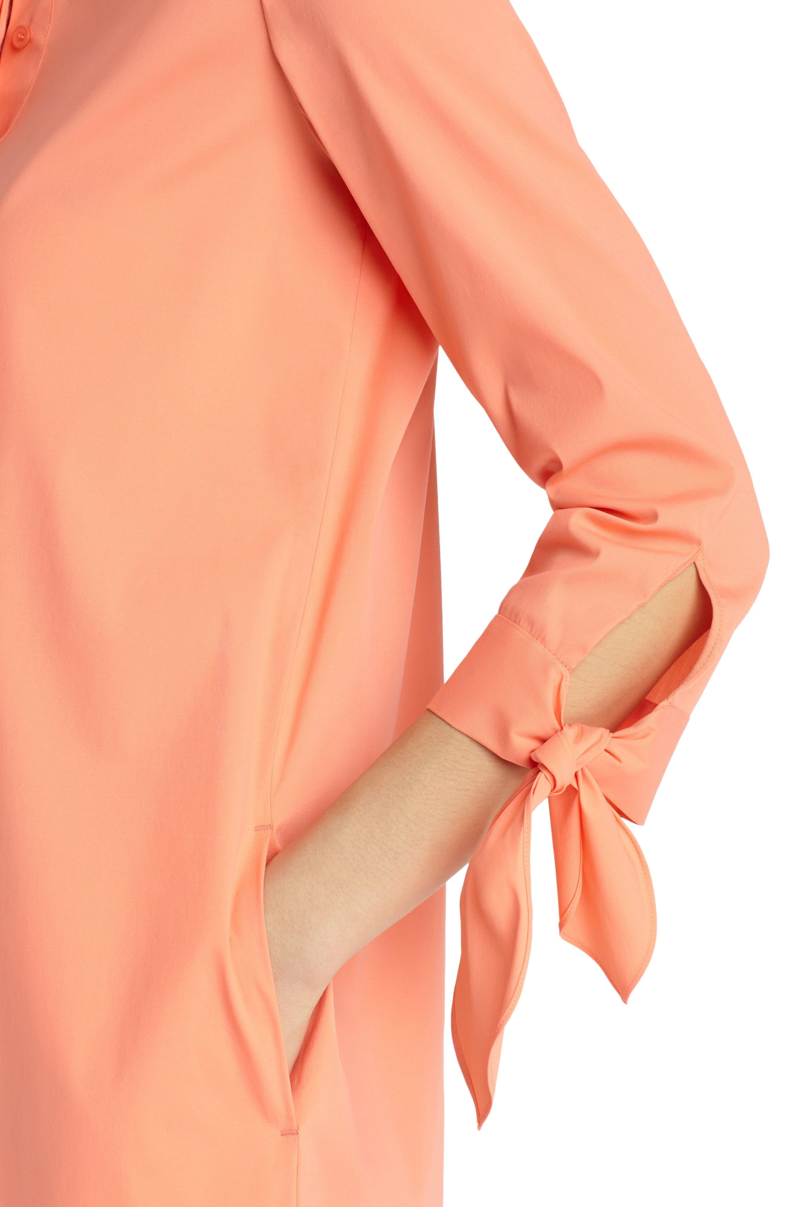 Alternate Image 4  - Lafayette 148 New York Talia Stretch Cotton Blend Dress