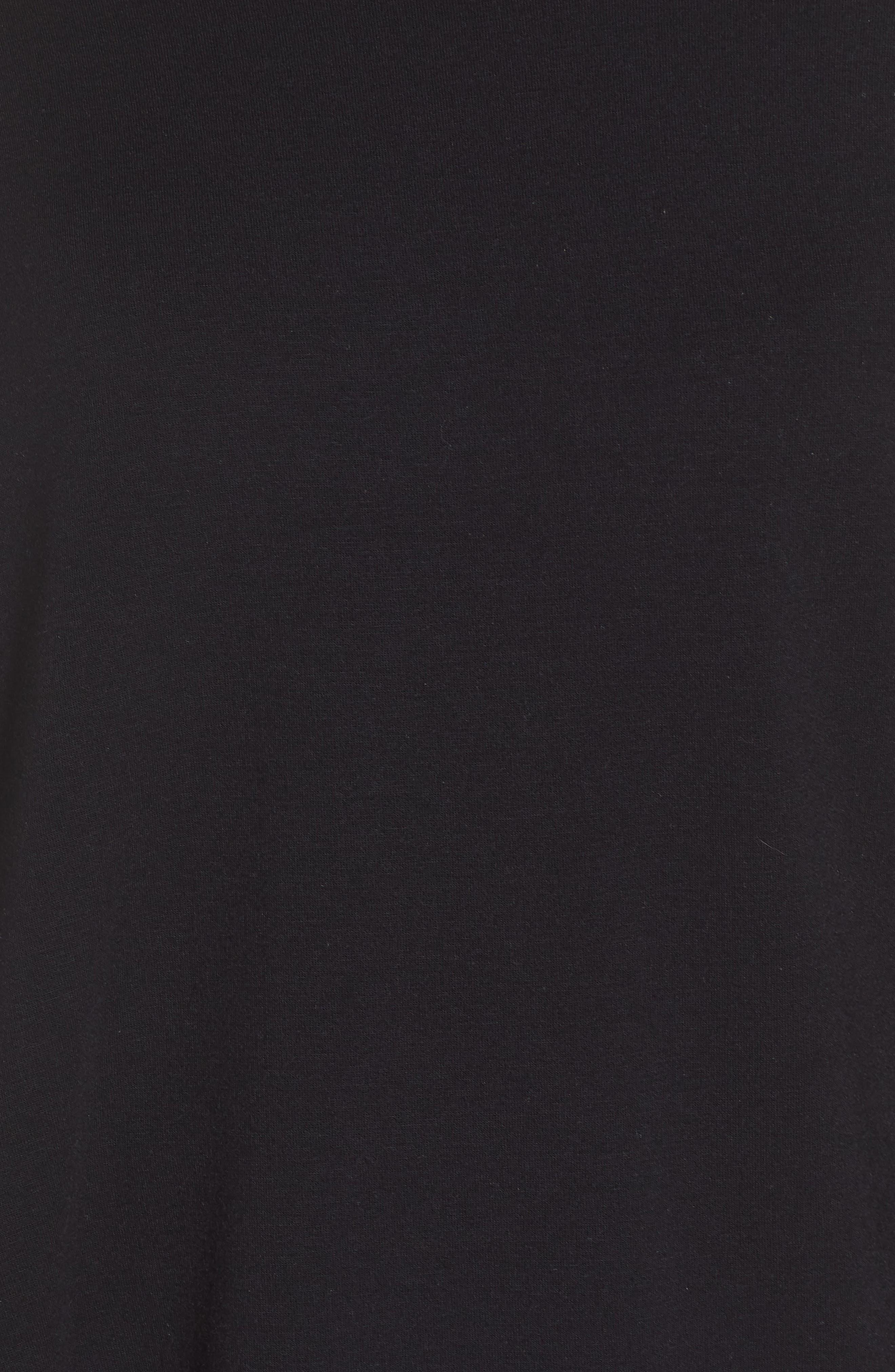 'Cozy' Convertible Fleece Pullover,                             Alternate thumbnail 7, color,                             Black