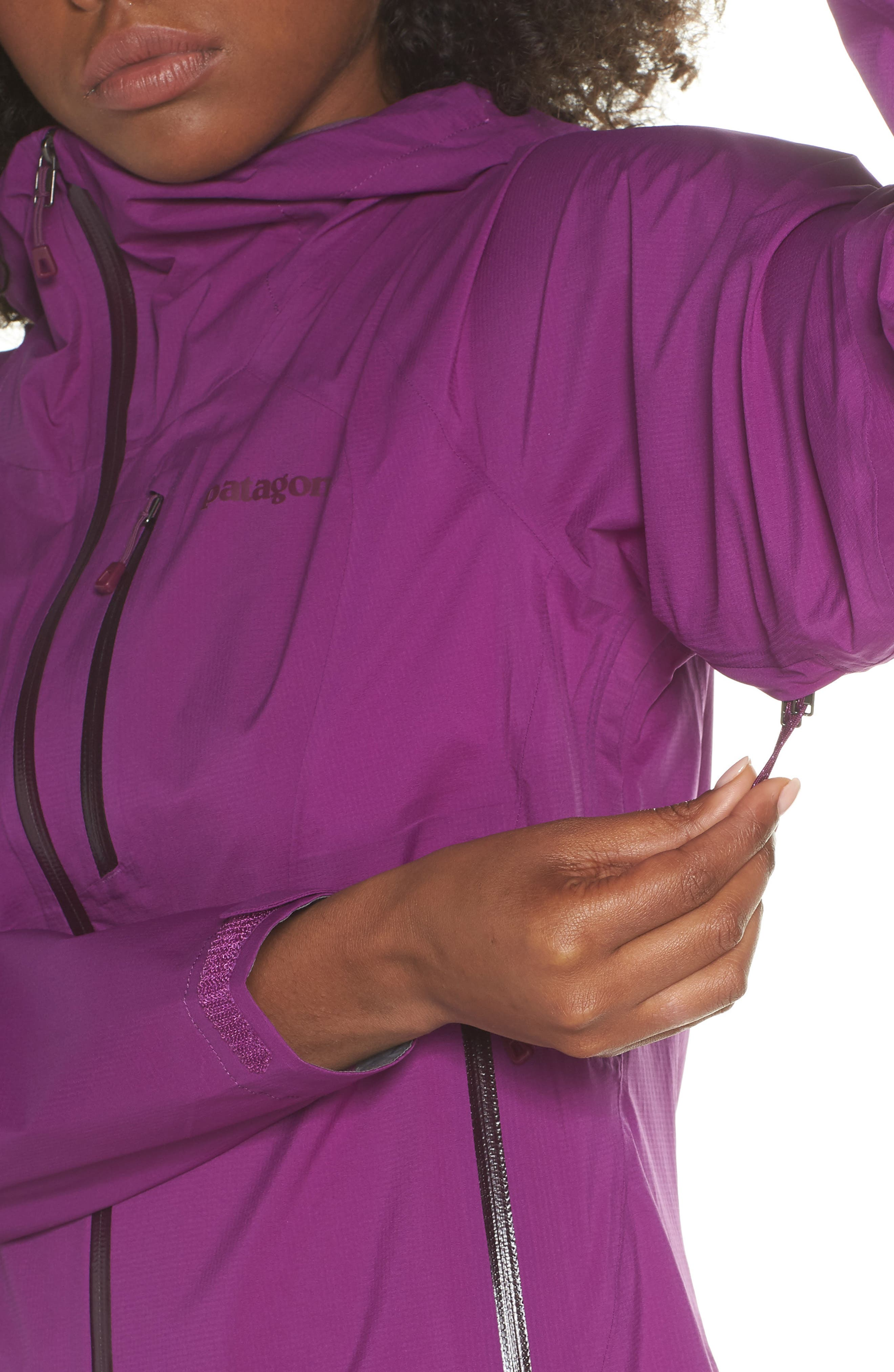 Stretch Rainshadow Jacket,                             Alternate thumbnail 4, color,                             Ikat Purple