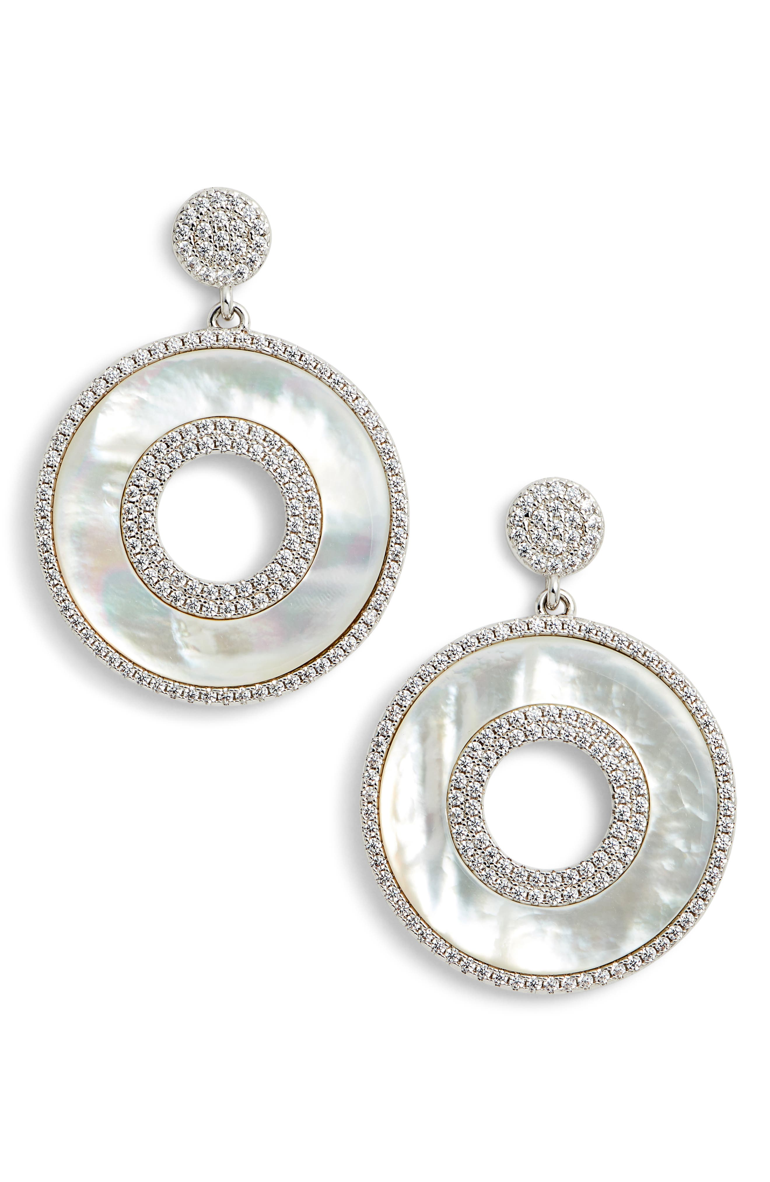 Mother of Pearl Drop Earrings,                         Main,                         color, Mother Of Pearl/ Silver