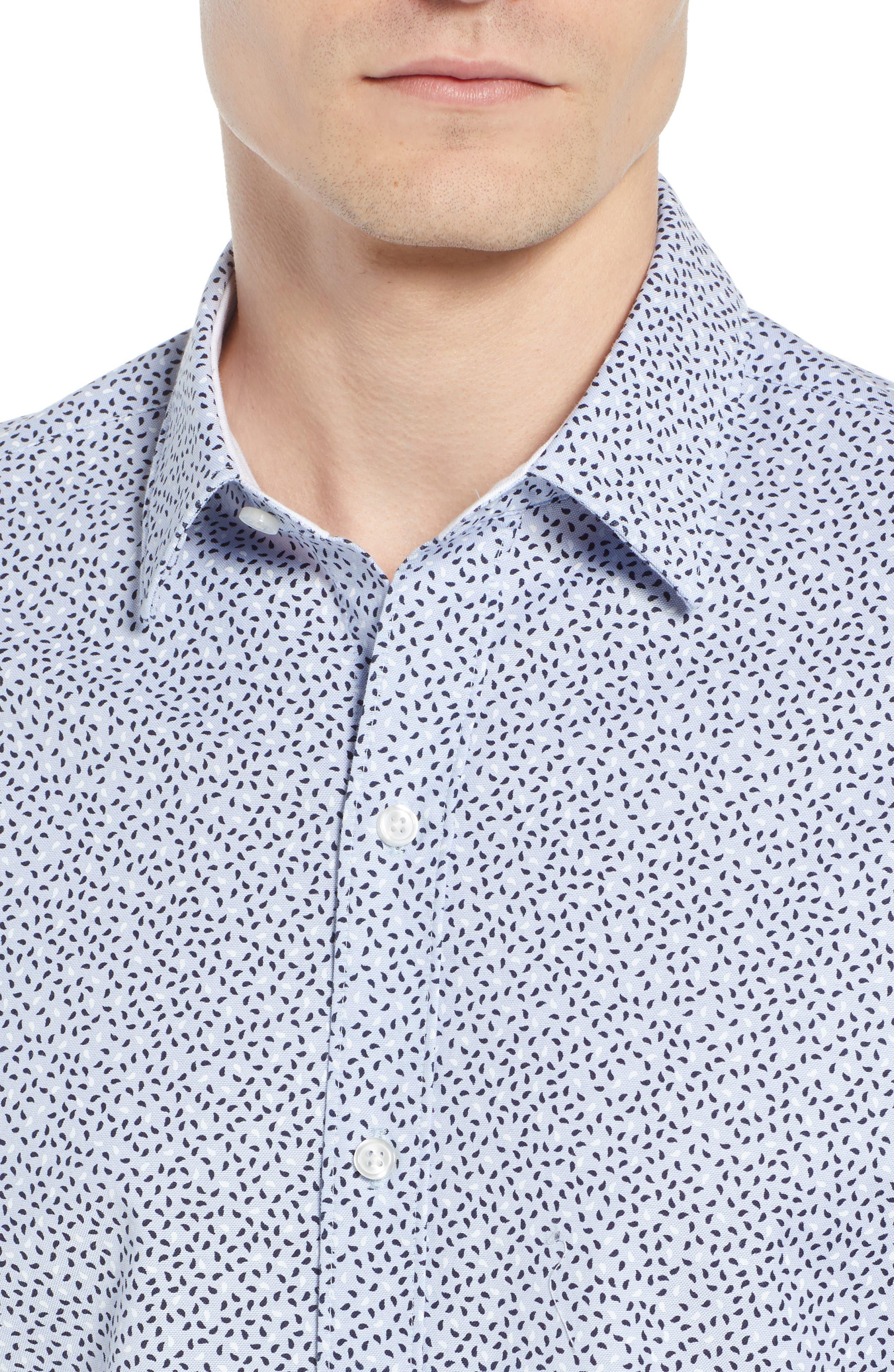 Robb Trim Fit Paisley Sport Shirt,                             Alternate thumbnail 2, color,                             Blue
