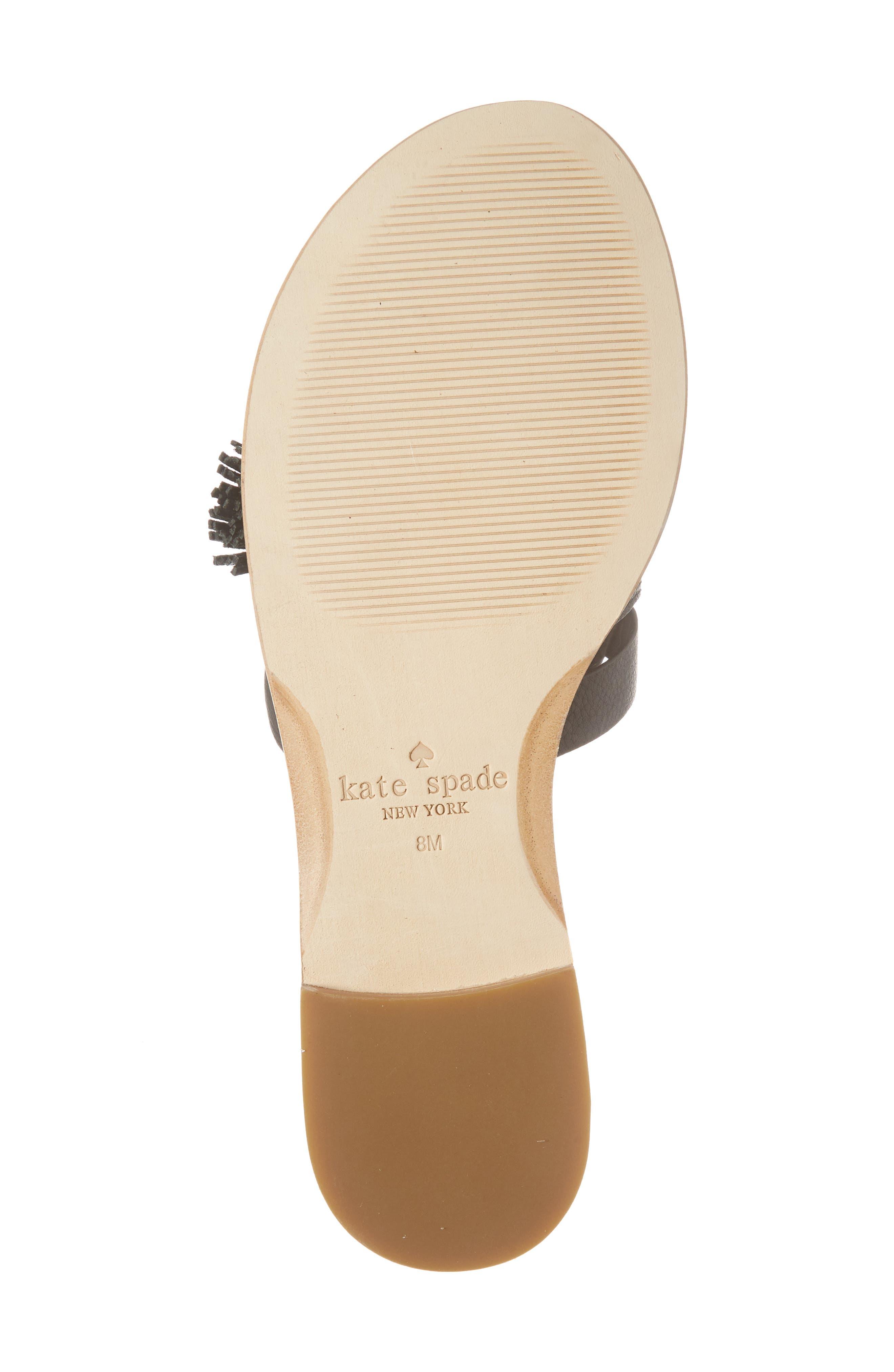coby tassel slide sandal,                             Alternate thumbnail 6, color,                             Black