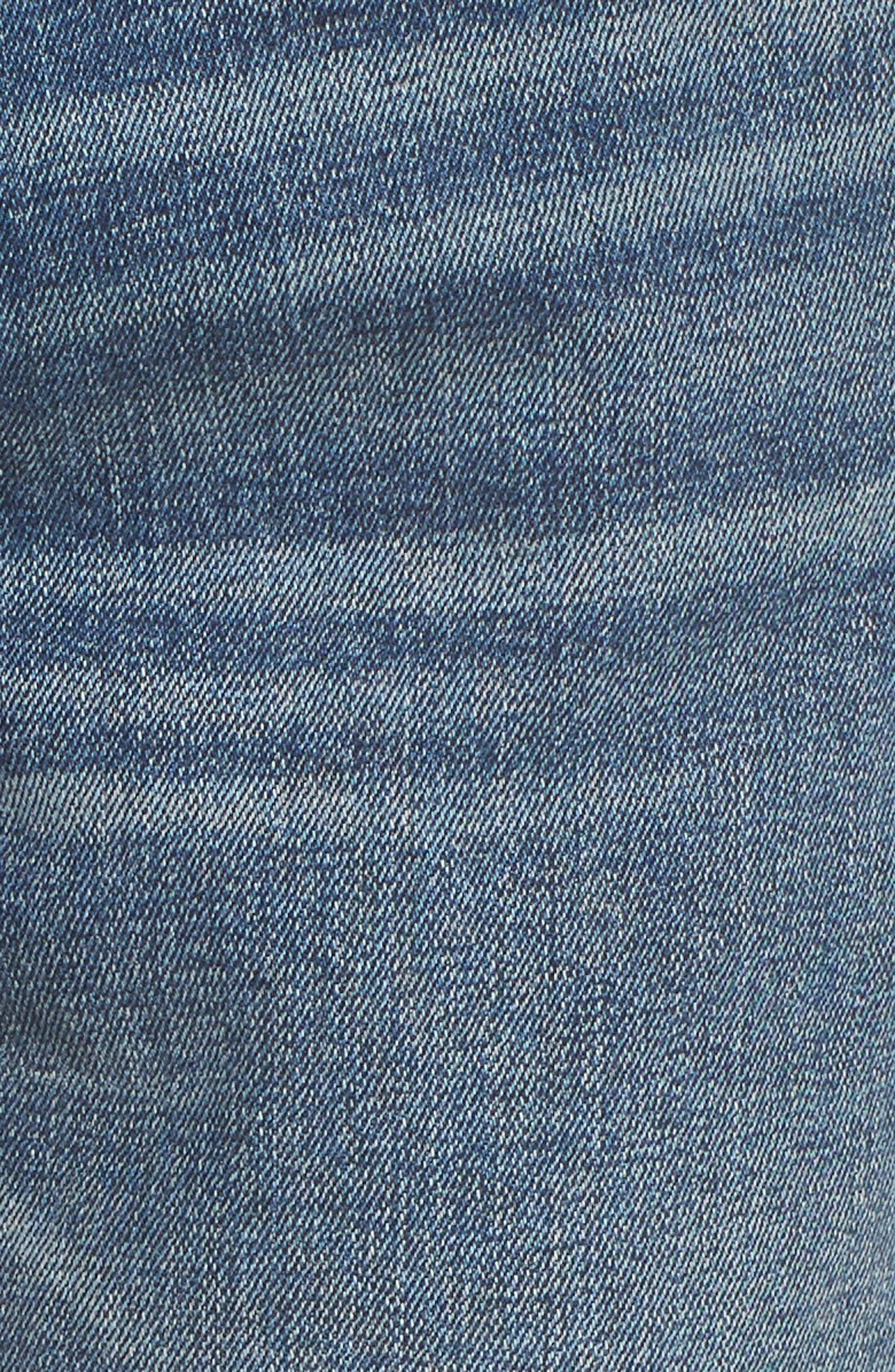 Friday Distressed Tapered Boyfriend Jeans,                             Alternate thumbnail 3, color,                             Medium Wash