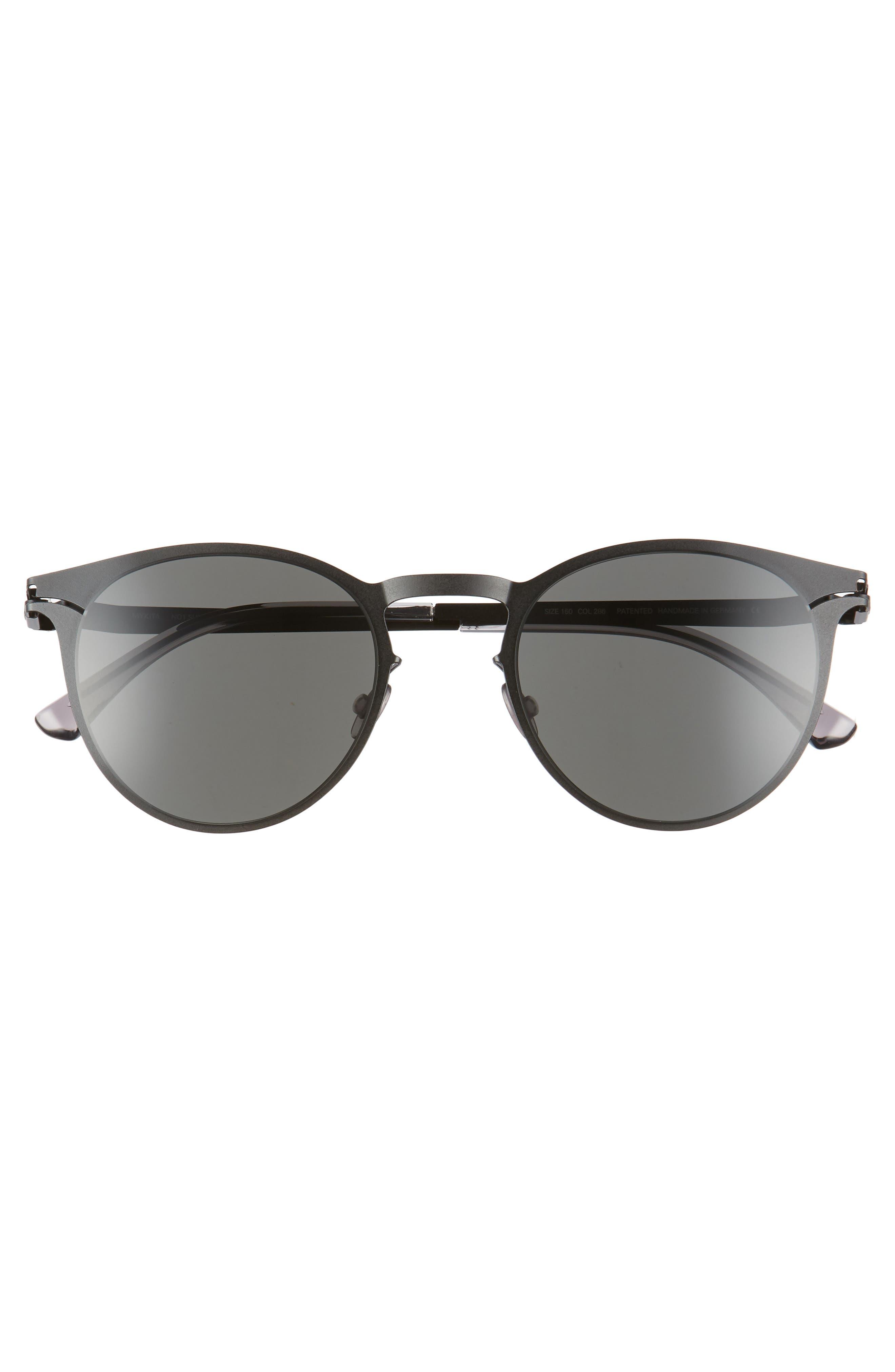 Federico 55mm Sunglasses,                             Alternate thumbnail 2, color,                             Matte Black