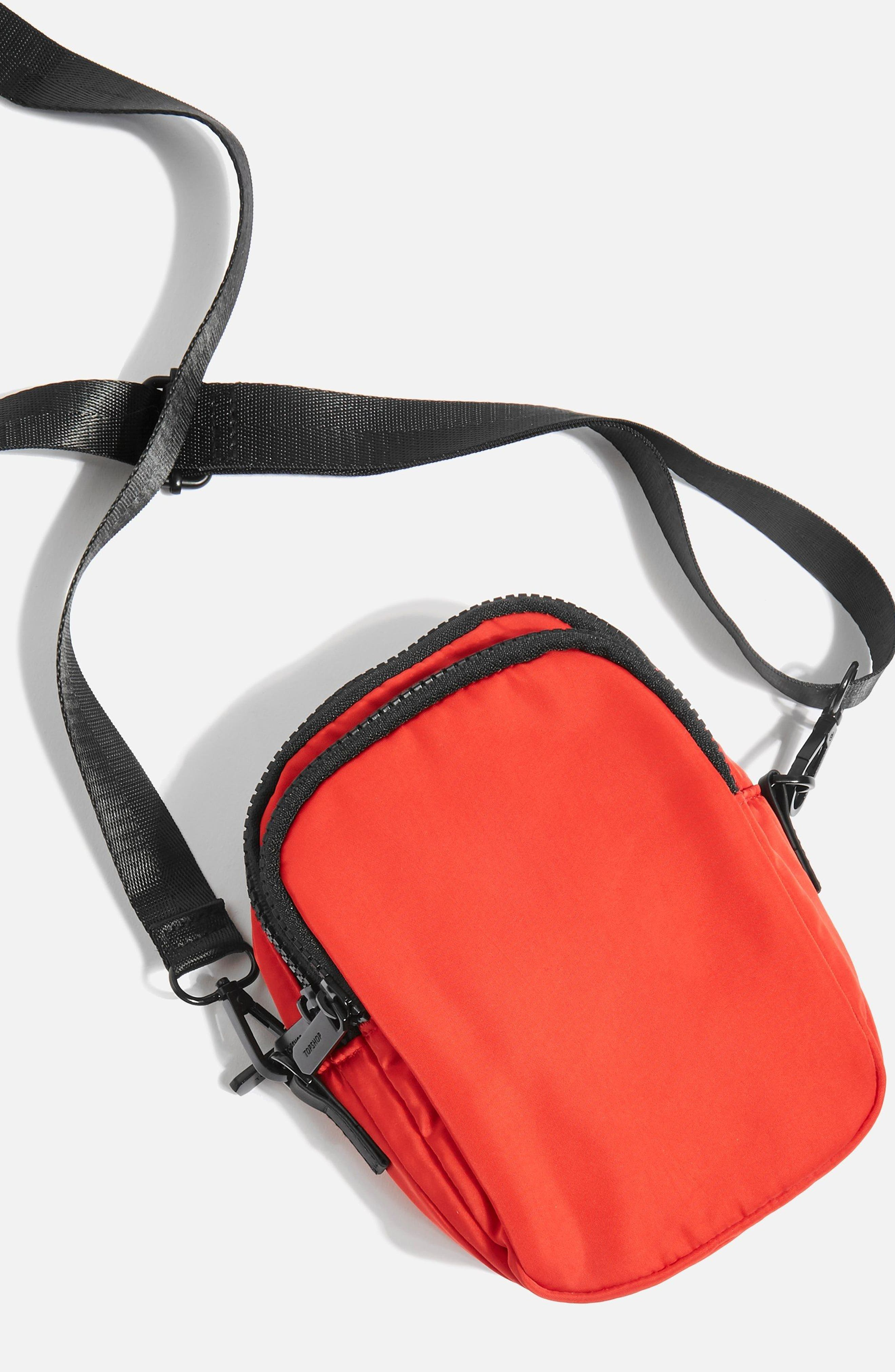 Storm Nylon Pouch,                             Alternate thumbnail 3, color,                             Red